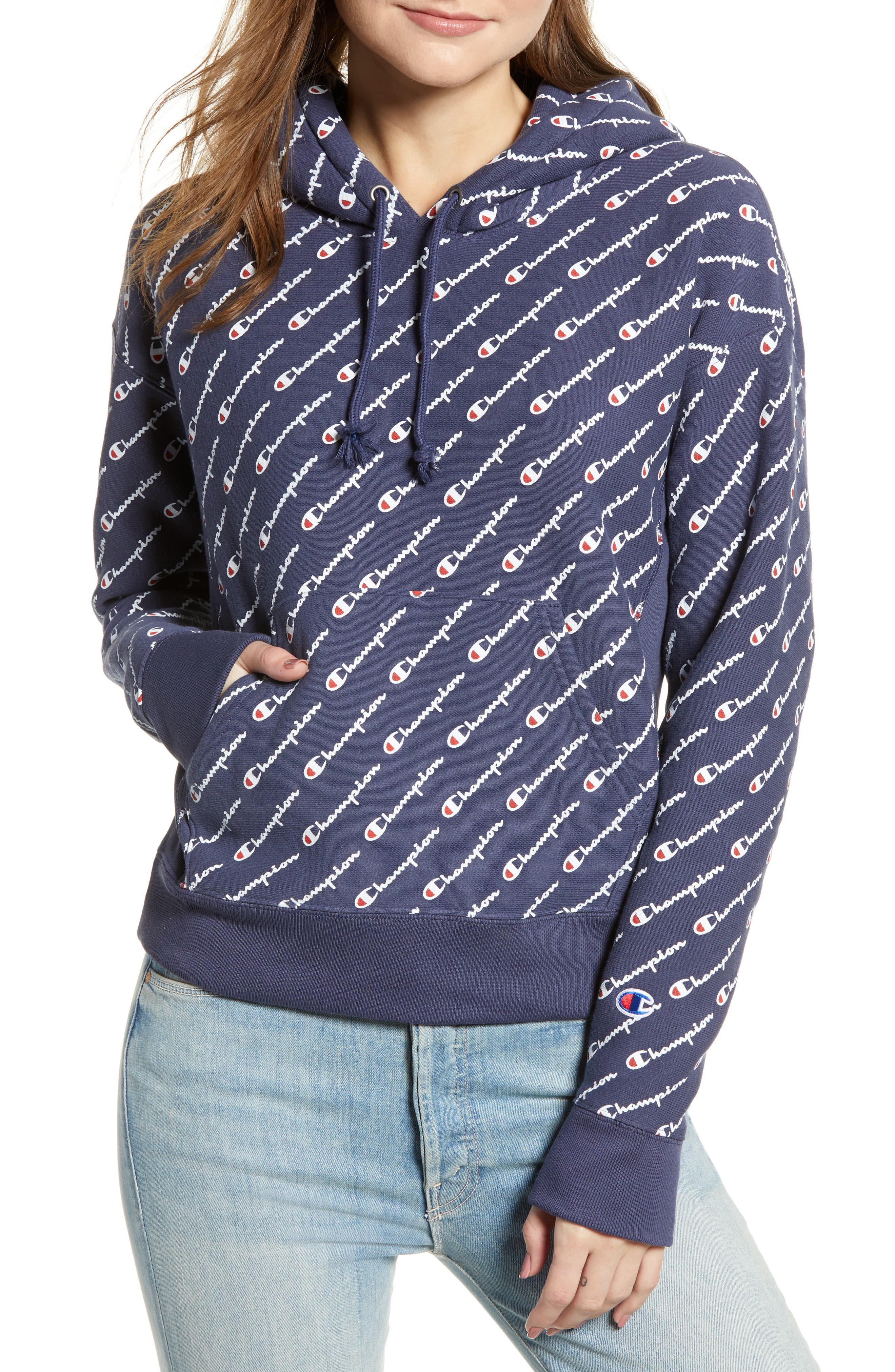 Reverse Weave<sup>®</sup> Pullover Hoodie,                             Main thumbnail 1, color,                             400