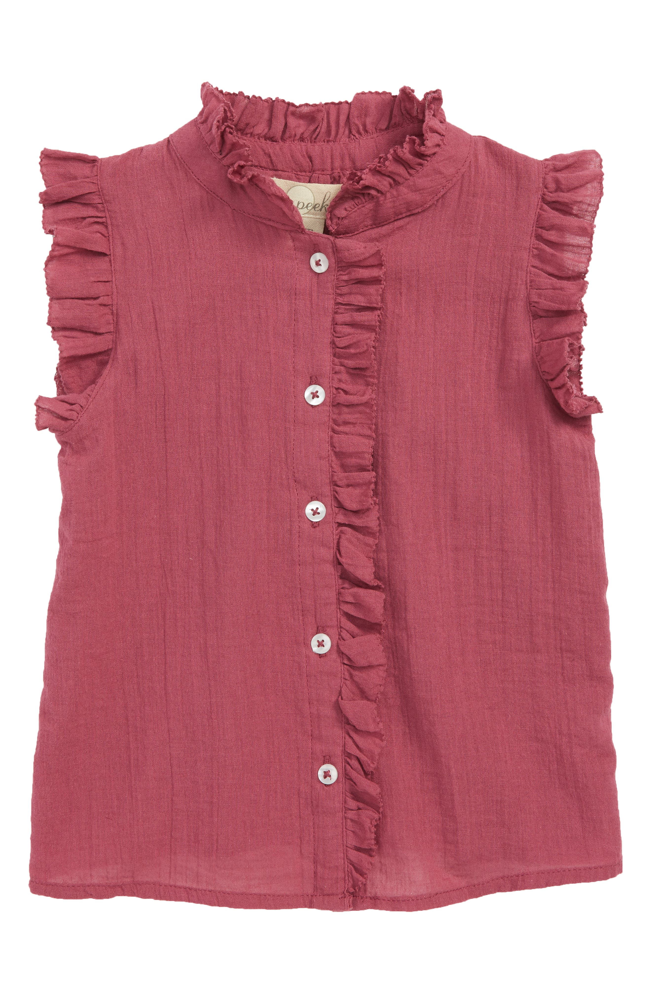 Kelsey Ruffle Top,                             Main thumbnail 1, color,                             930