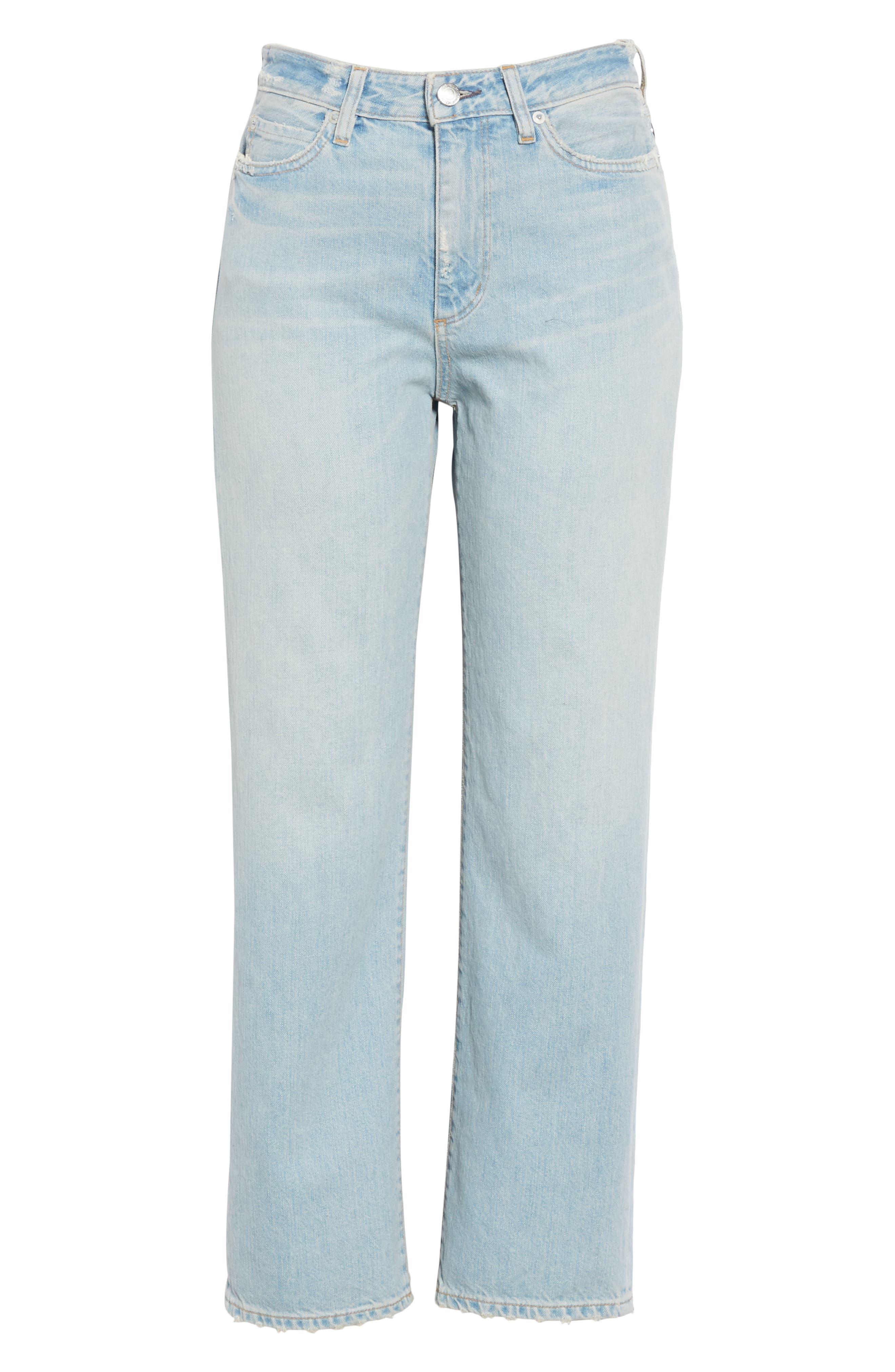 High Waist Crop Jeans,                             Alternate thumbnail 6, color,                             VINTAGE WASH 6