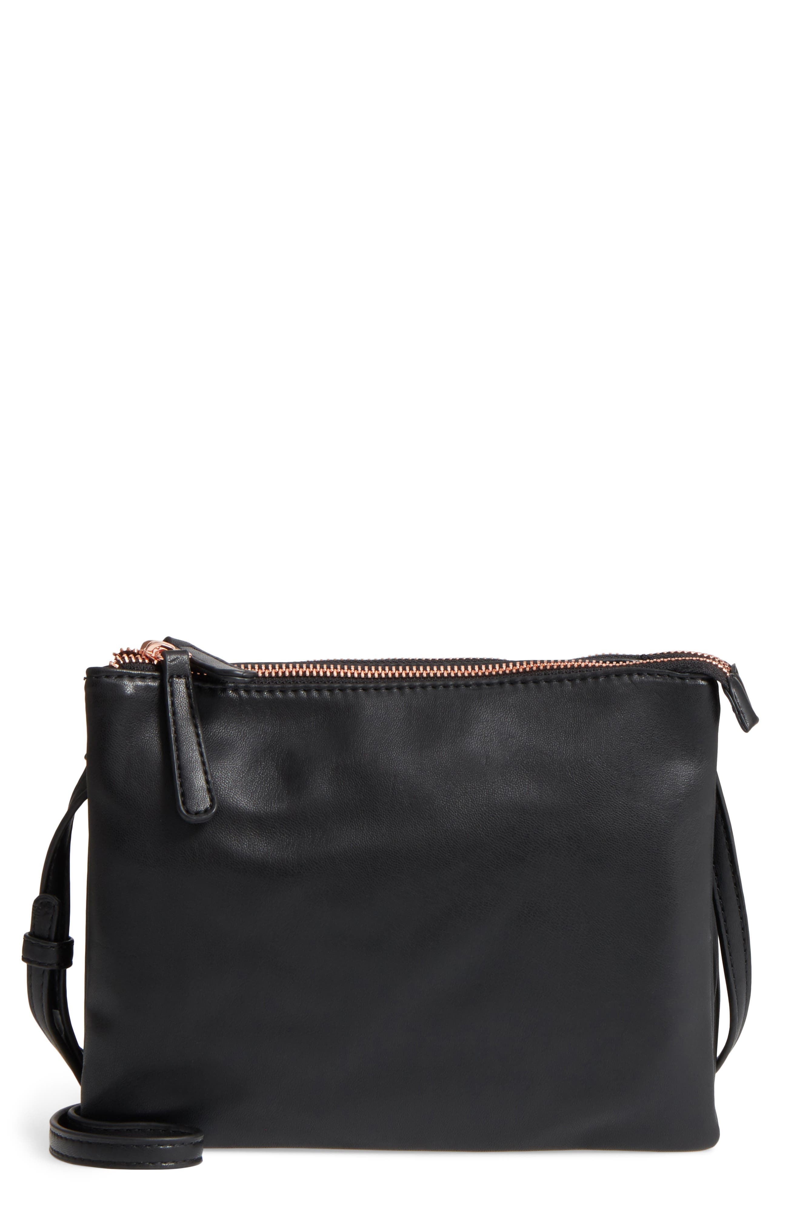 Madden Faux Leather Pouch Crossbody Bag,                             Main thumbnail 1, color,