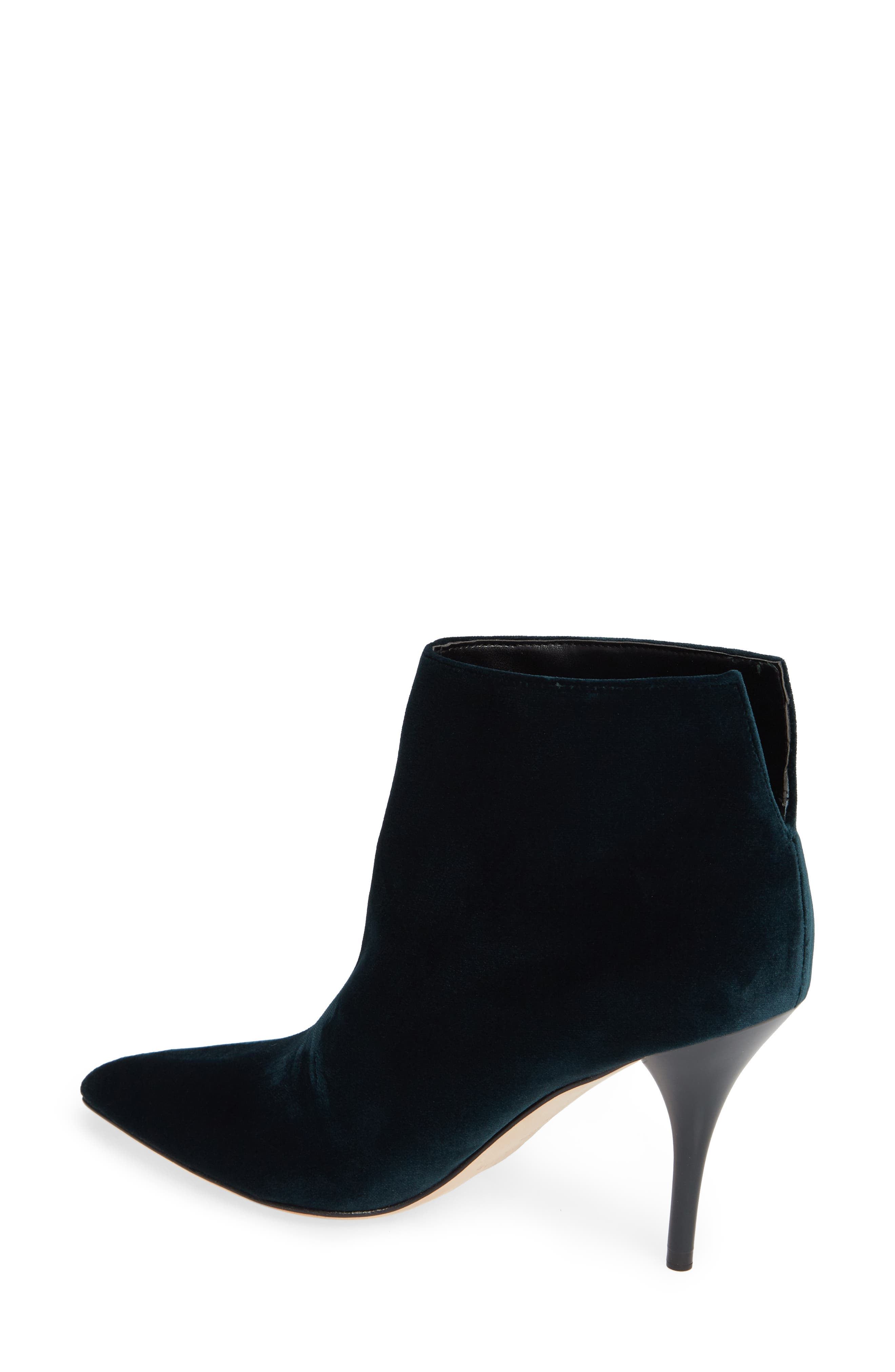 MARC FISHER LTD,                             Fenet Pointy Toe Bootie,                             Alternate thumbnail 2, color,                             SPRUCE FABRIC