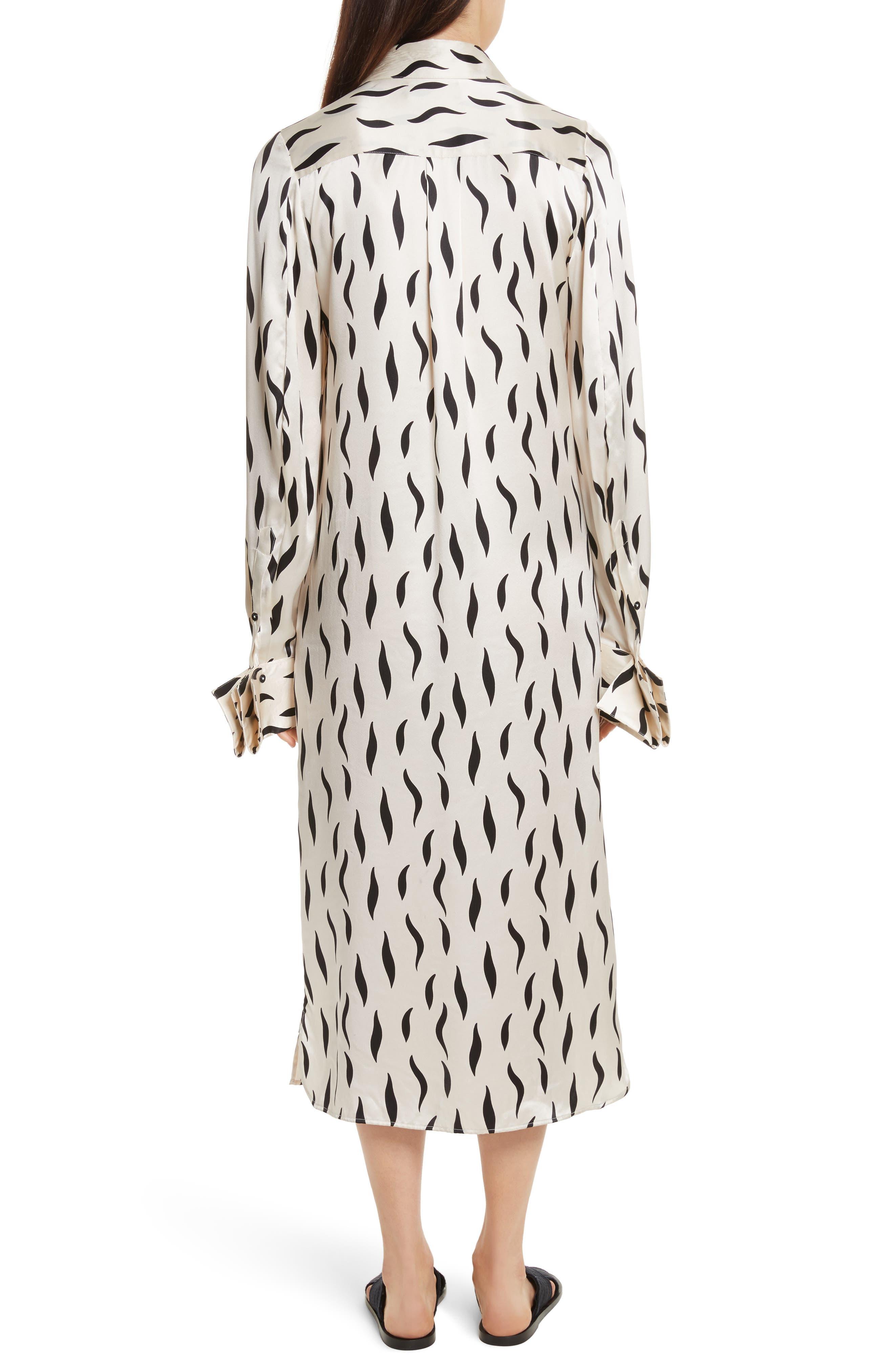 Cassidy Long Zebra Silk Dress,                             Alternate thumbnail 2, color,                             906