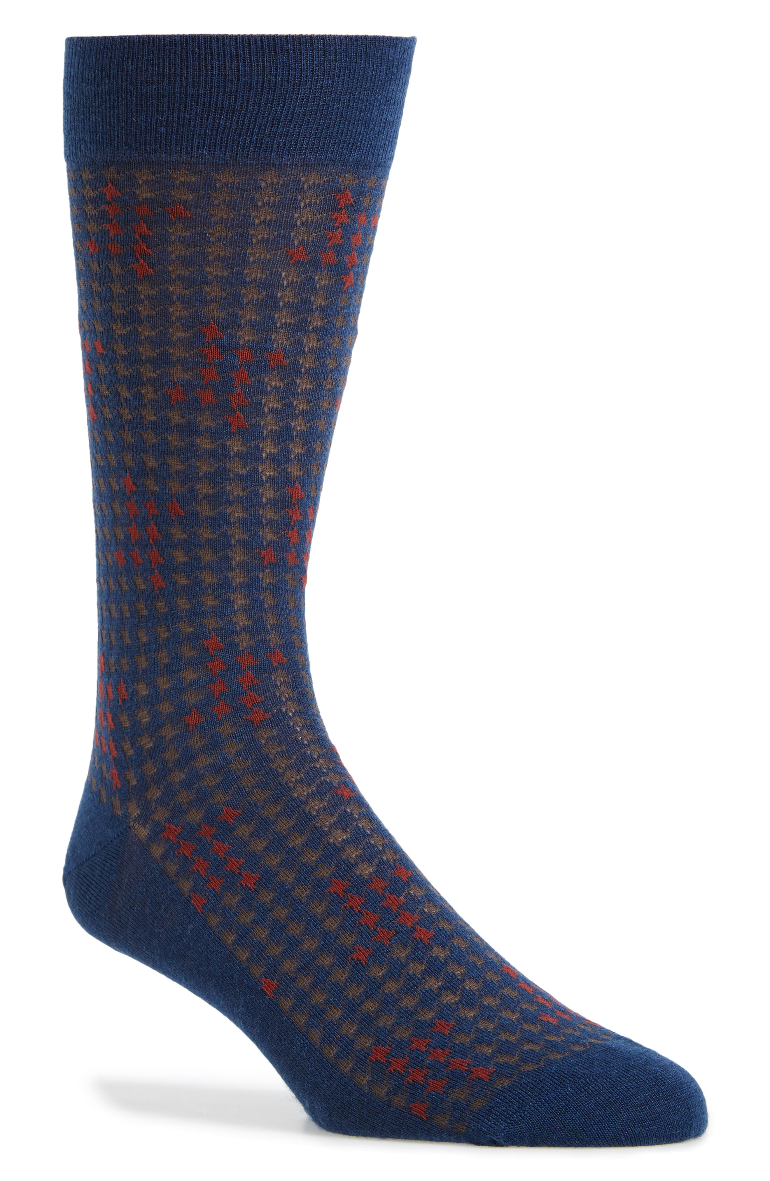 Houndstooth Socks,                         Main,                         color, 401