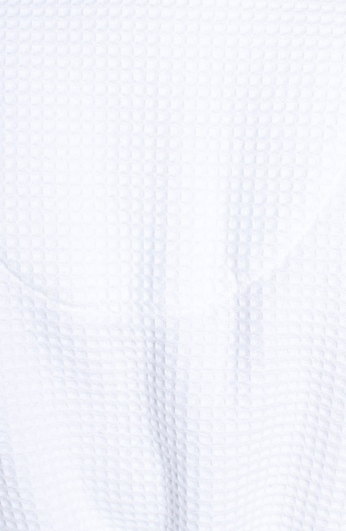 Waffle Knit Short Robe,                             Alternate thumbnail 8, color,                             100
