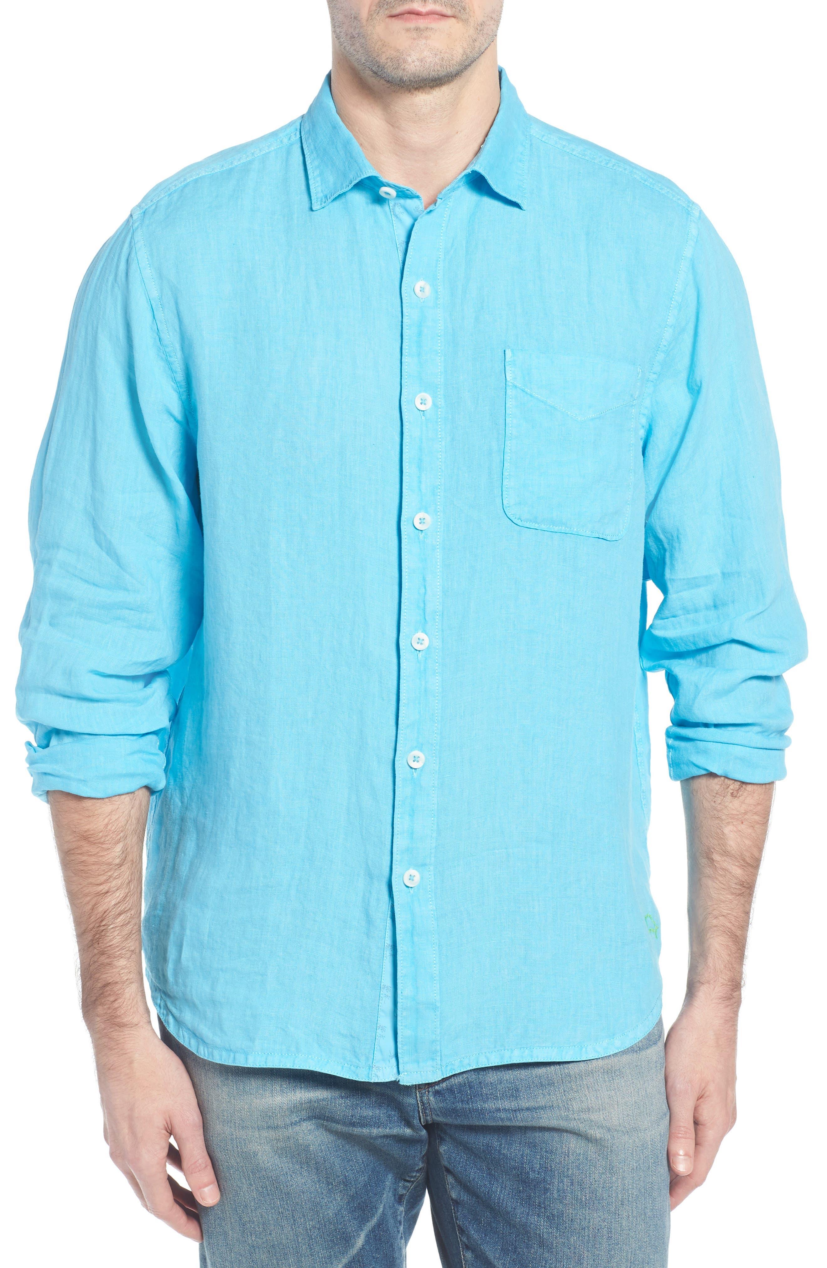 Seaspray Breezer Linen Shirt,                             Main thumbnail 3, color,