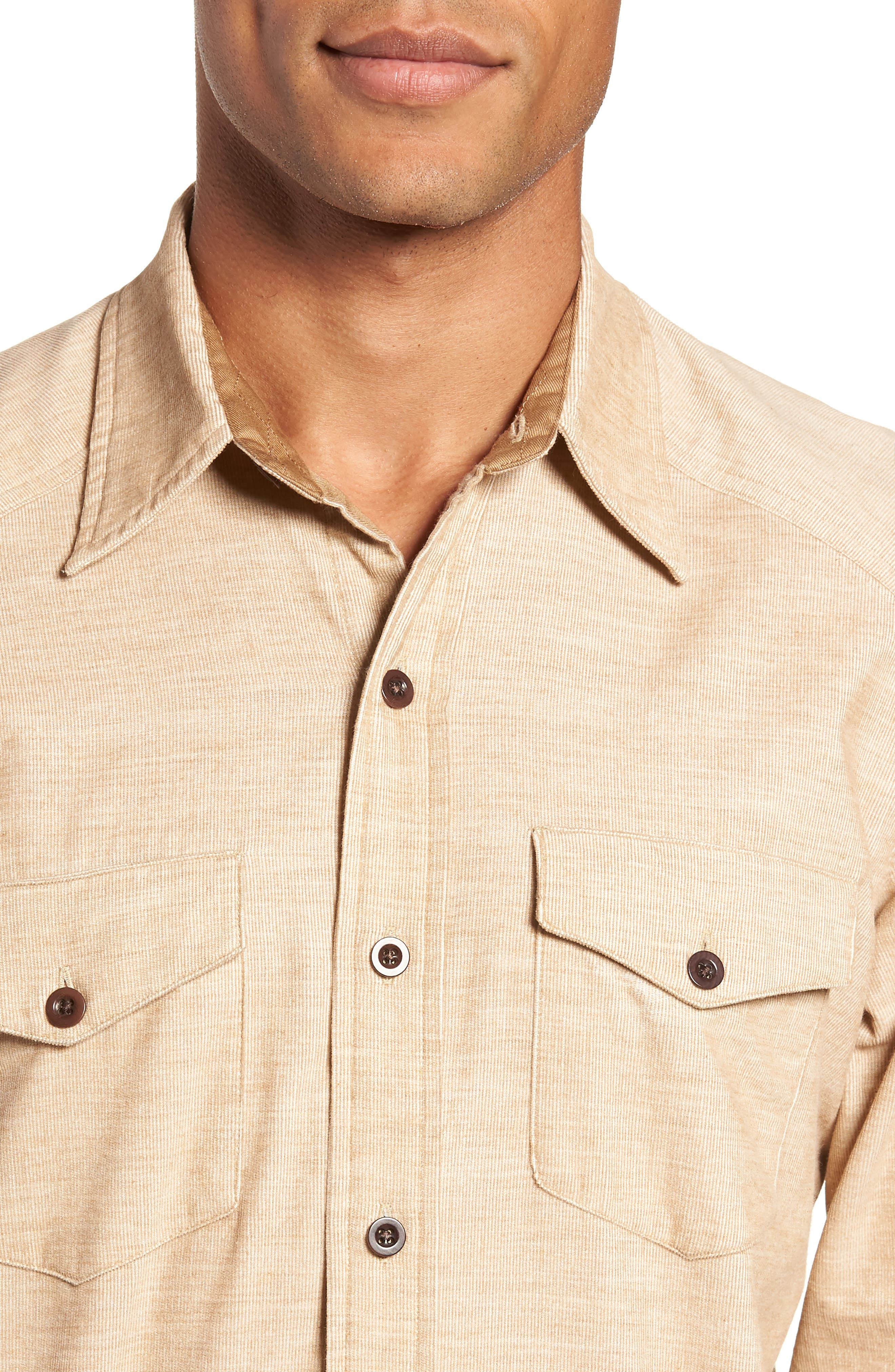John Addison Engineer Shirt,                             Alternate thumbnail 2, color,                             KHAKI HEATHER