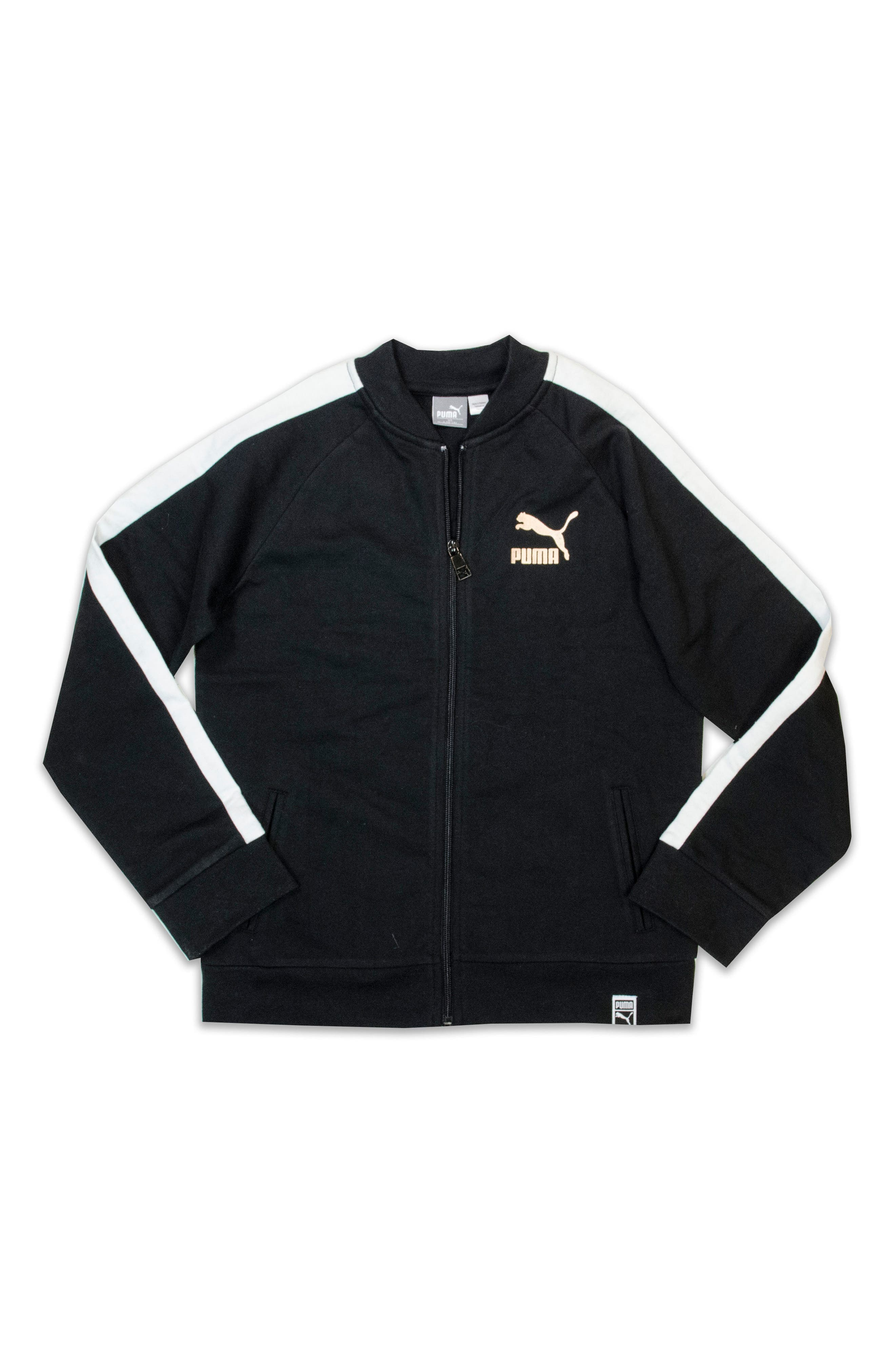 T7 Logo French Terry Track Jacket,                             Main thumbnail 1, color,                             001