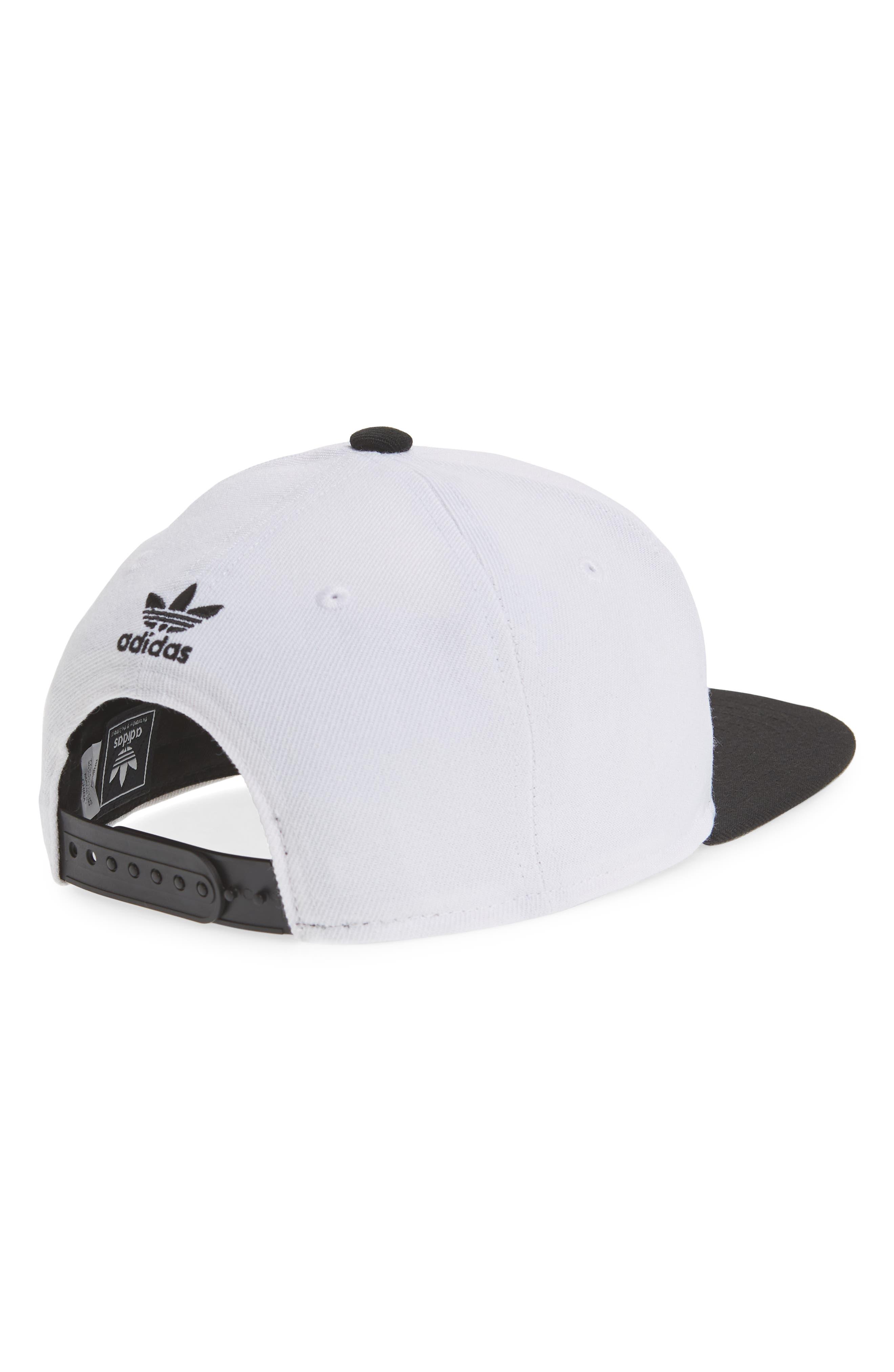 ADIDAS,                             Originals Snapback Hat,                             Alternate thumbnail 2, color,                             100