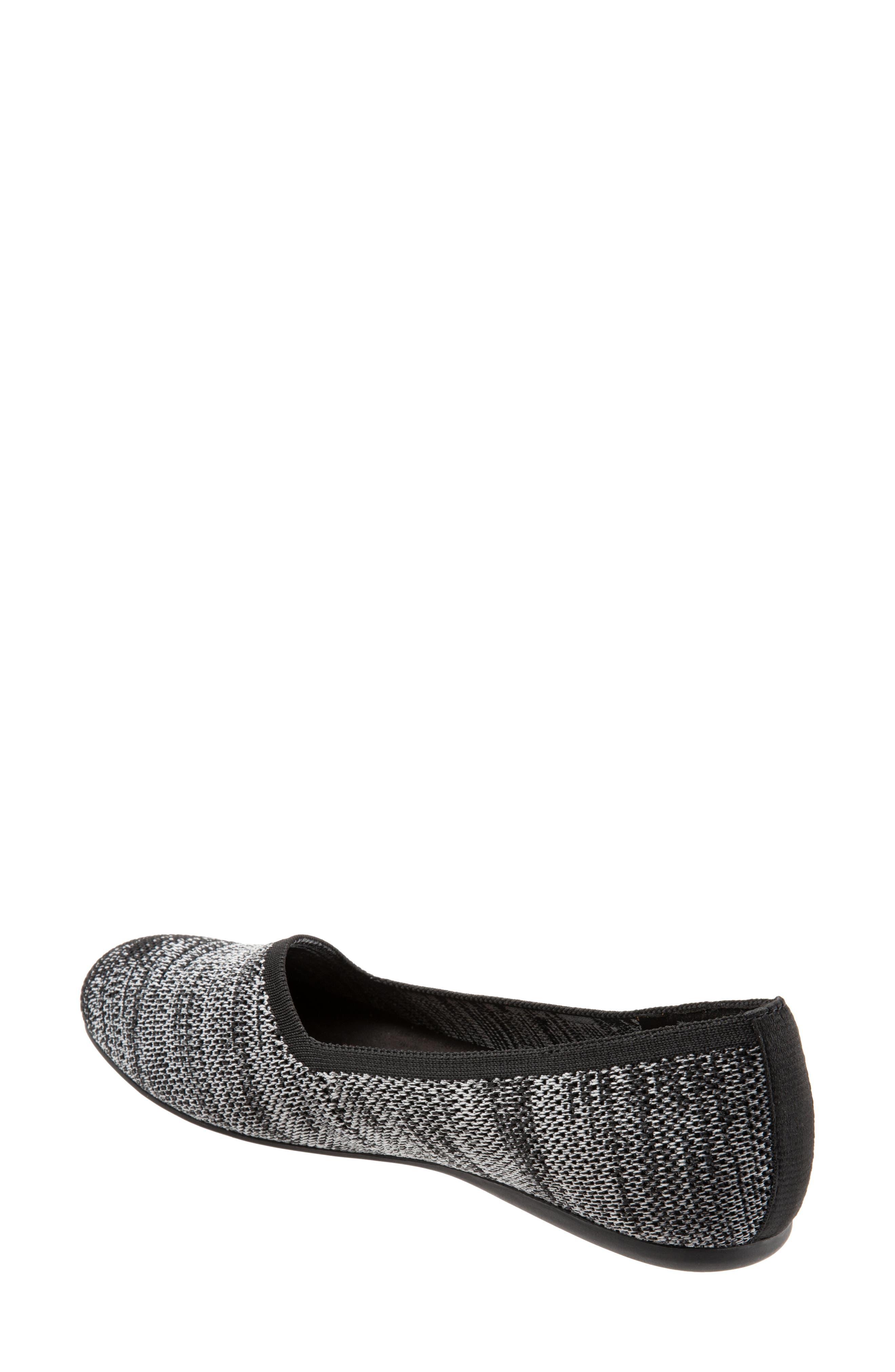 Sicily Knit Flat,                             Alternate thumbnail 2, color,                             BLACK KNIT FABRIC