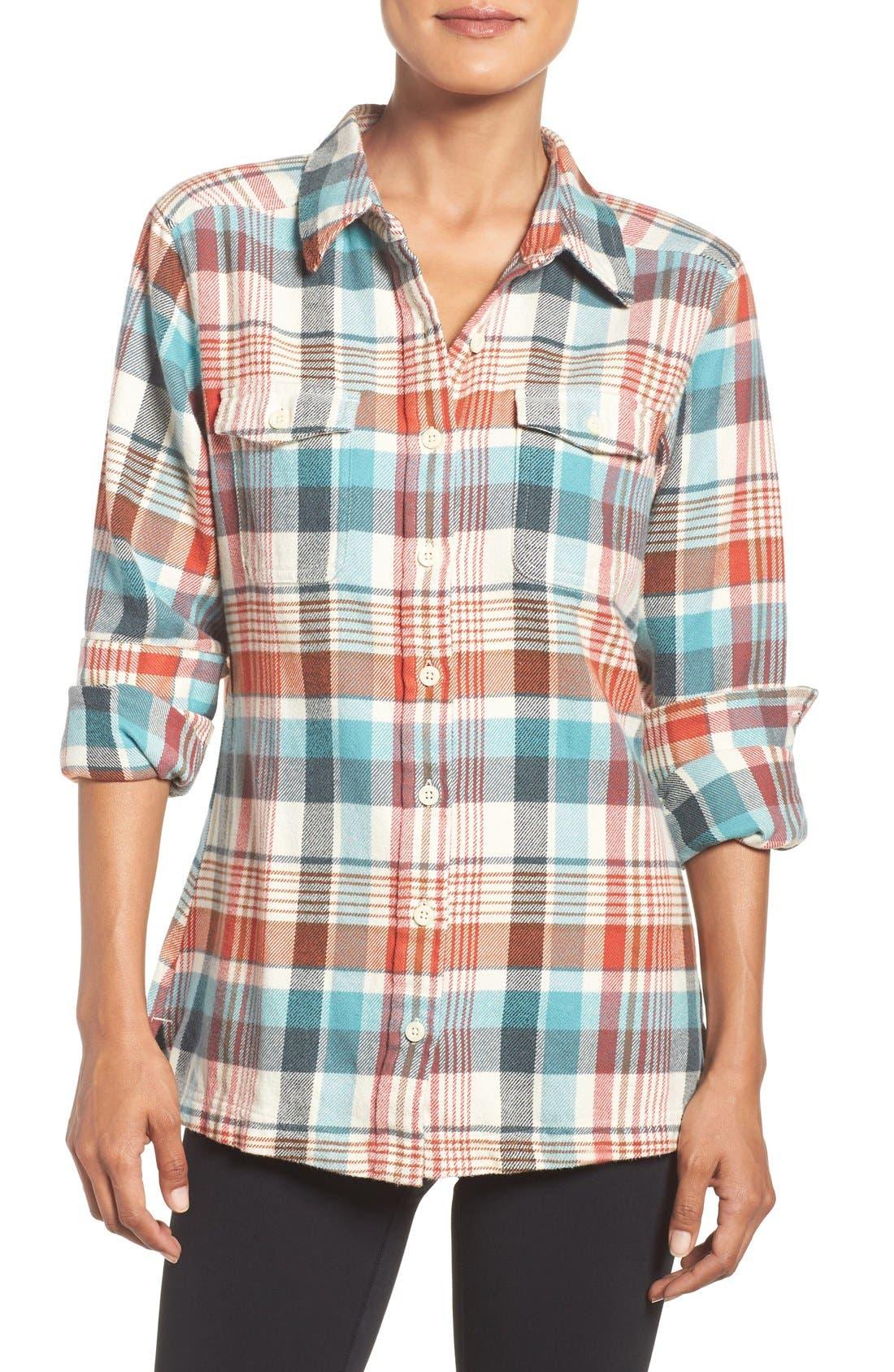 'Fjord' Flannel Shirt,                             Main thumbnail 7, color,
