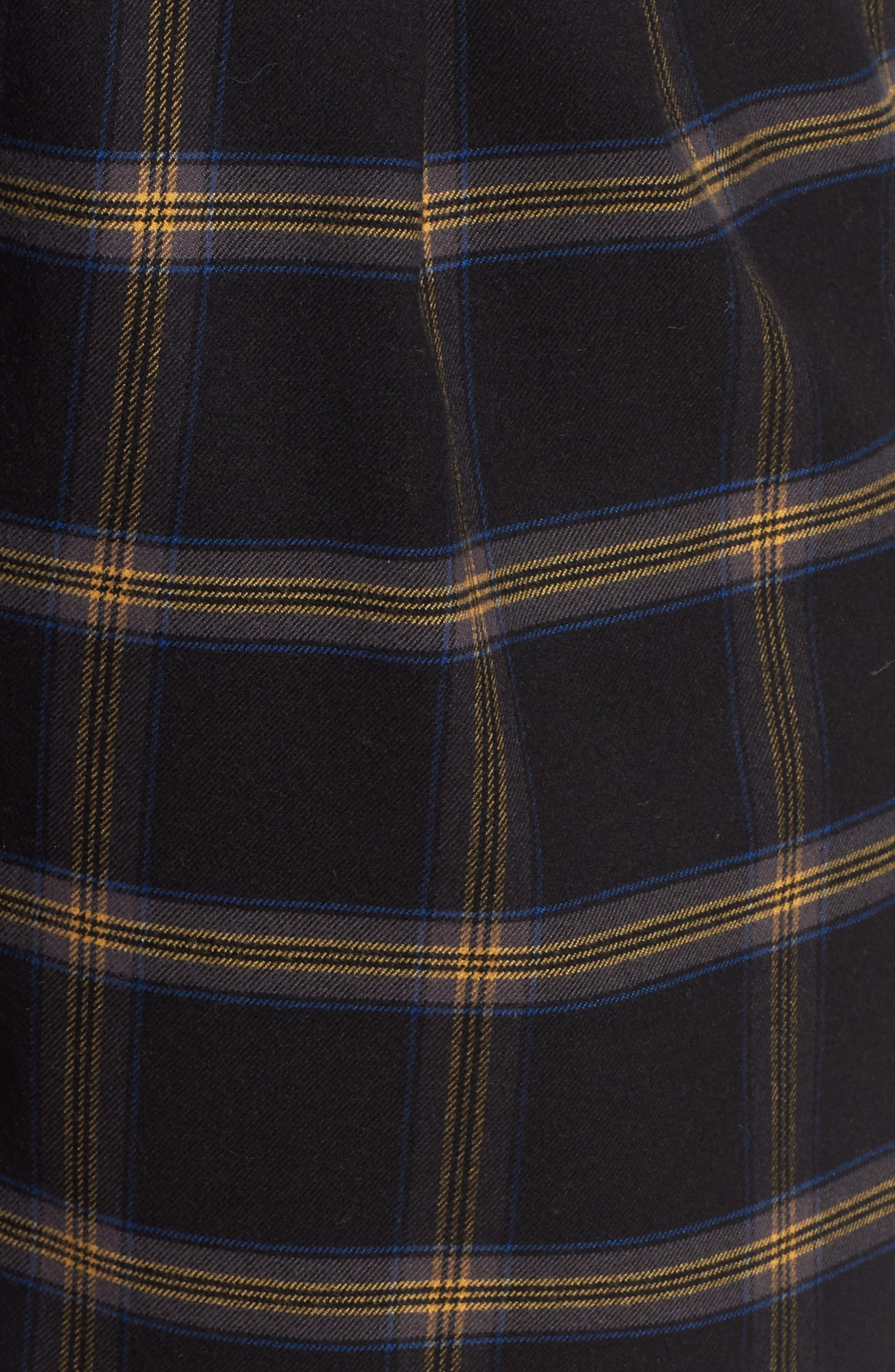 Plaid Menswear Crop Pants,                             Alternate thumbnail 6, color,                             BLACK SHANNON PLAID