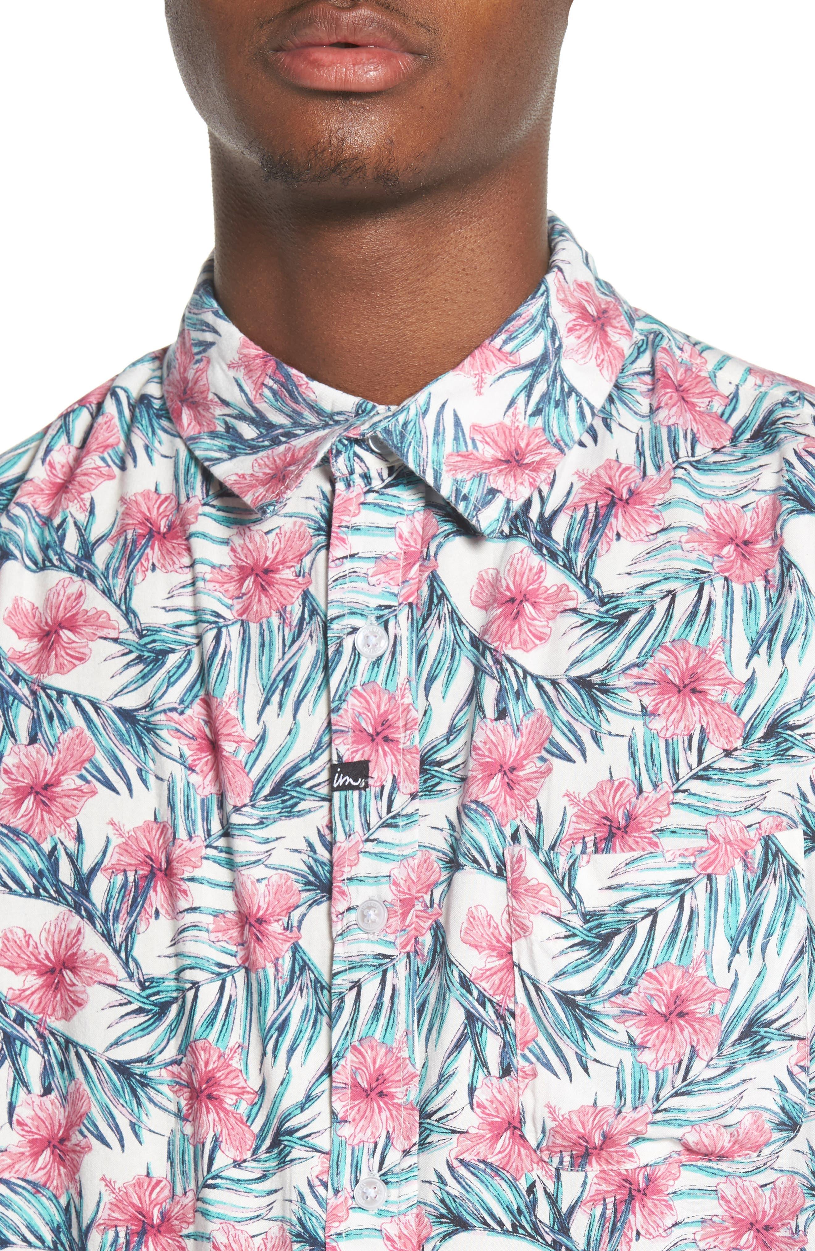 Carolina Woven Shirt,                             Alternate thumbnail 4, color,                             100
