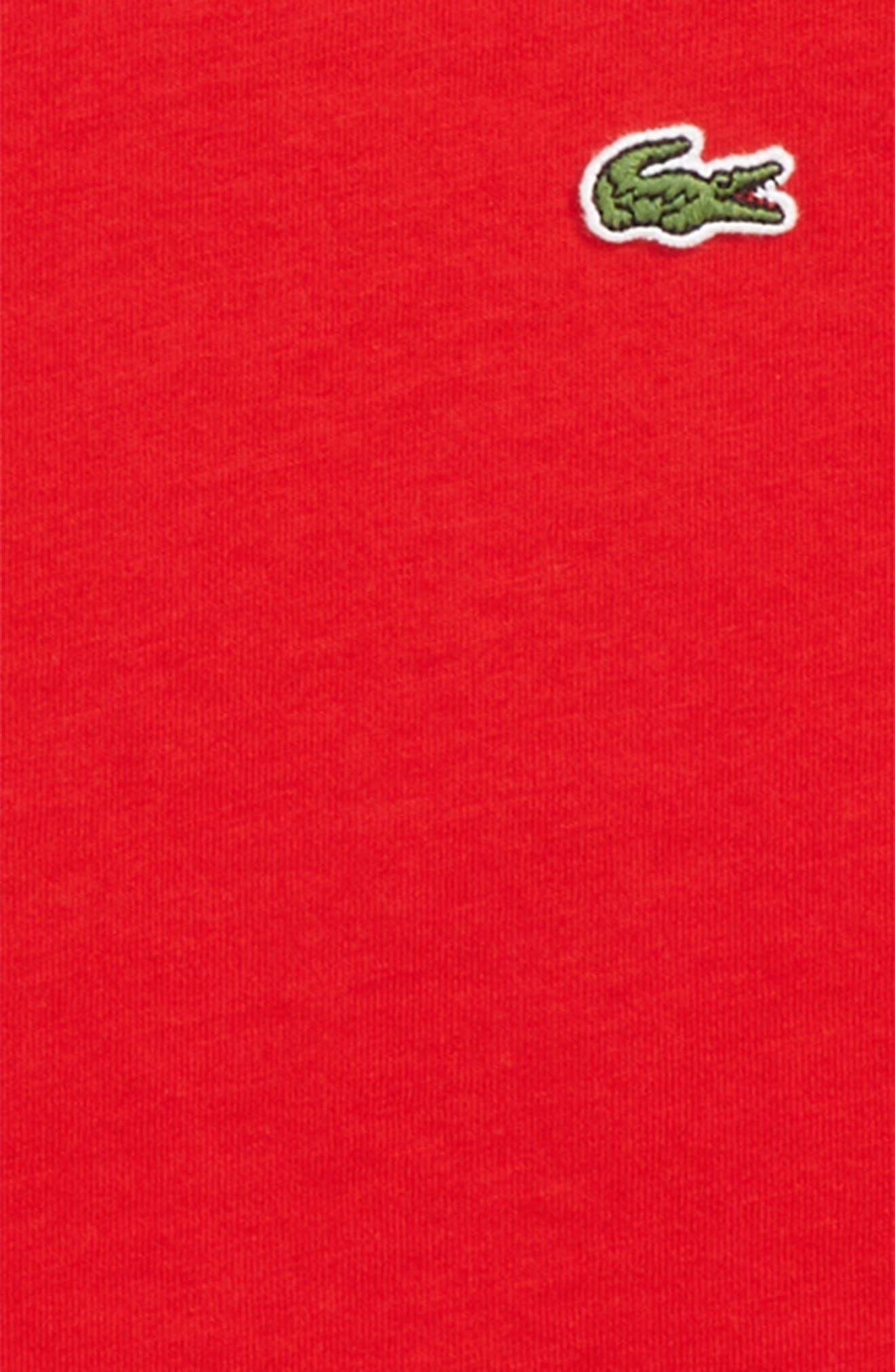 Solid V-Neck T-Shirt,                             Alternate thumbnail 2, color,                             RED