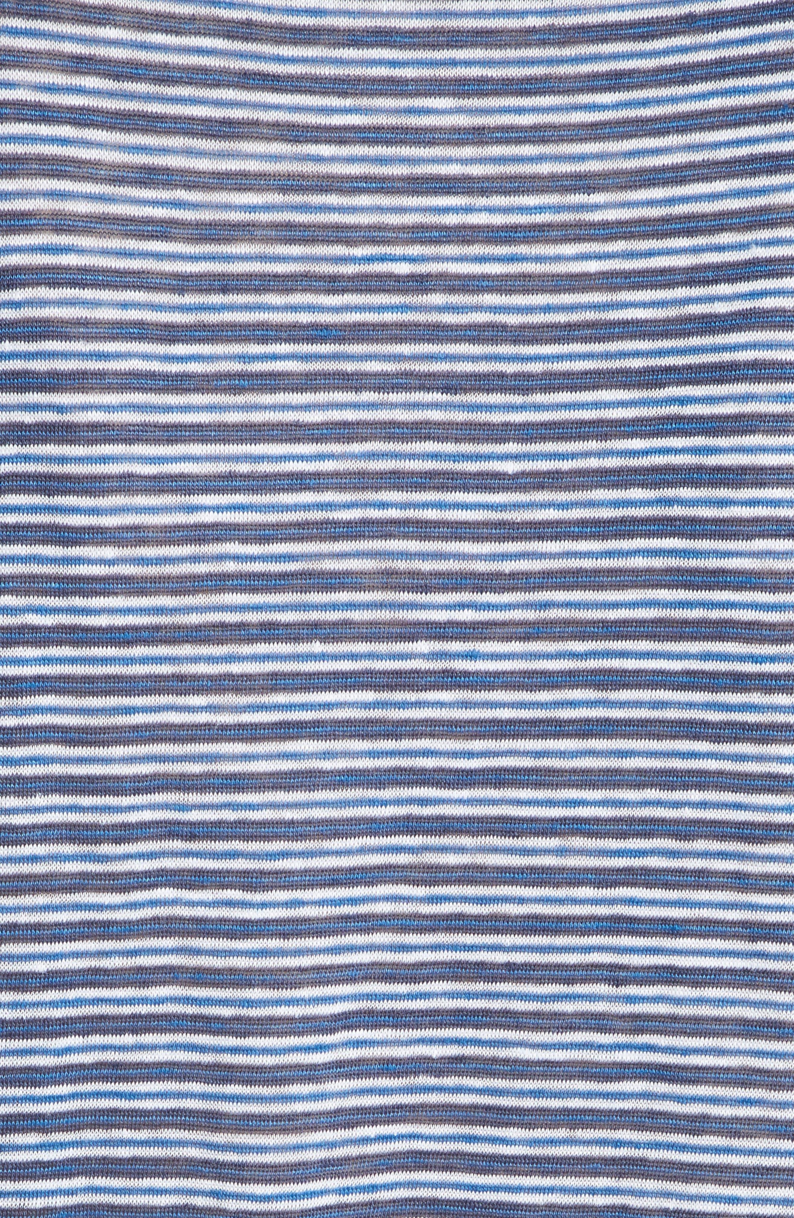 Neyo Stripe Linen Tee,                             Alternate thumbnail 5, color,                             423
