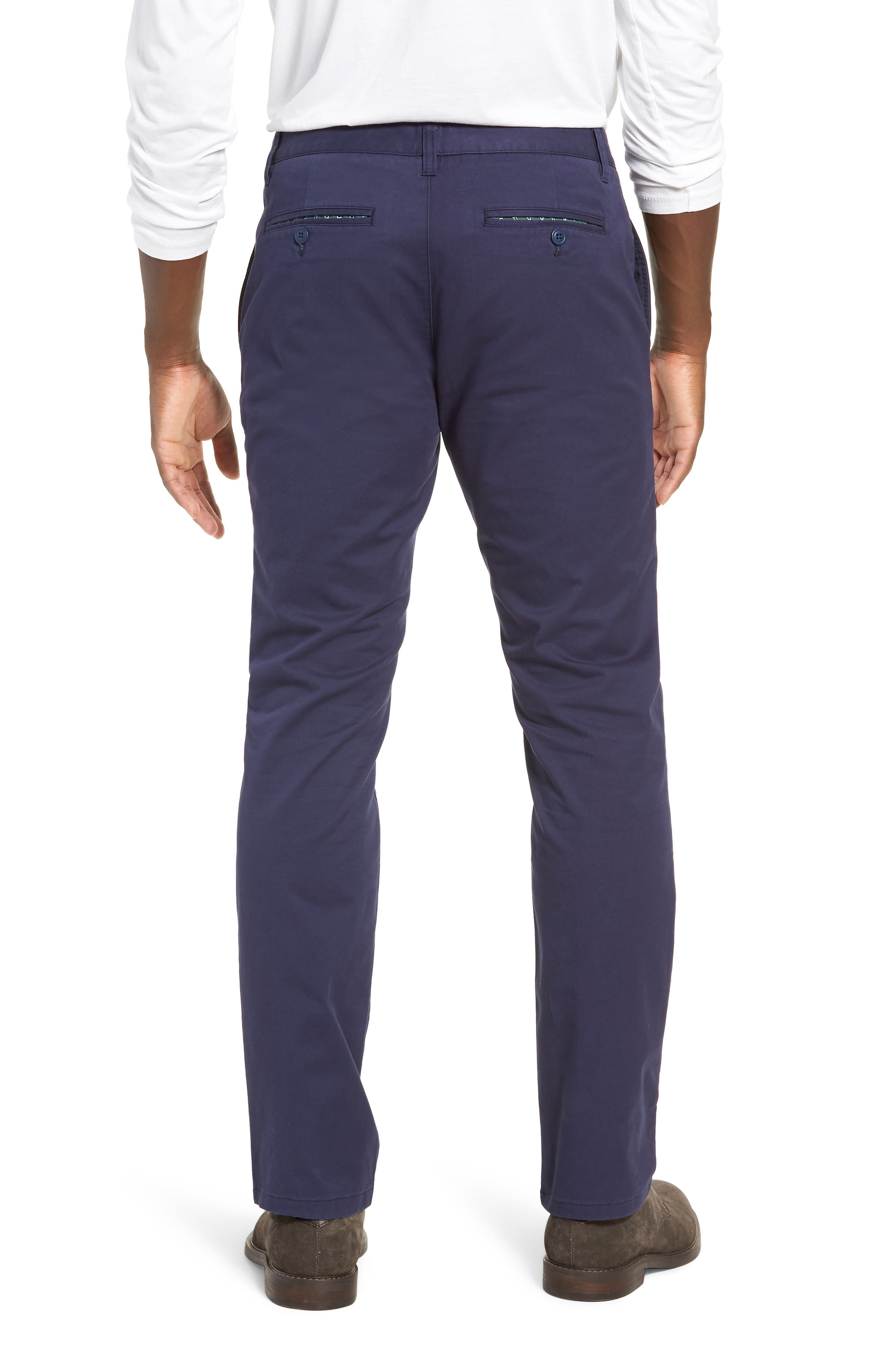 Tailored Fit Washed Stretch Cotton Chinos,                             Alternate thumbnail 49, color,