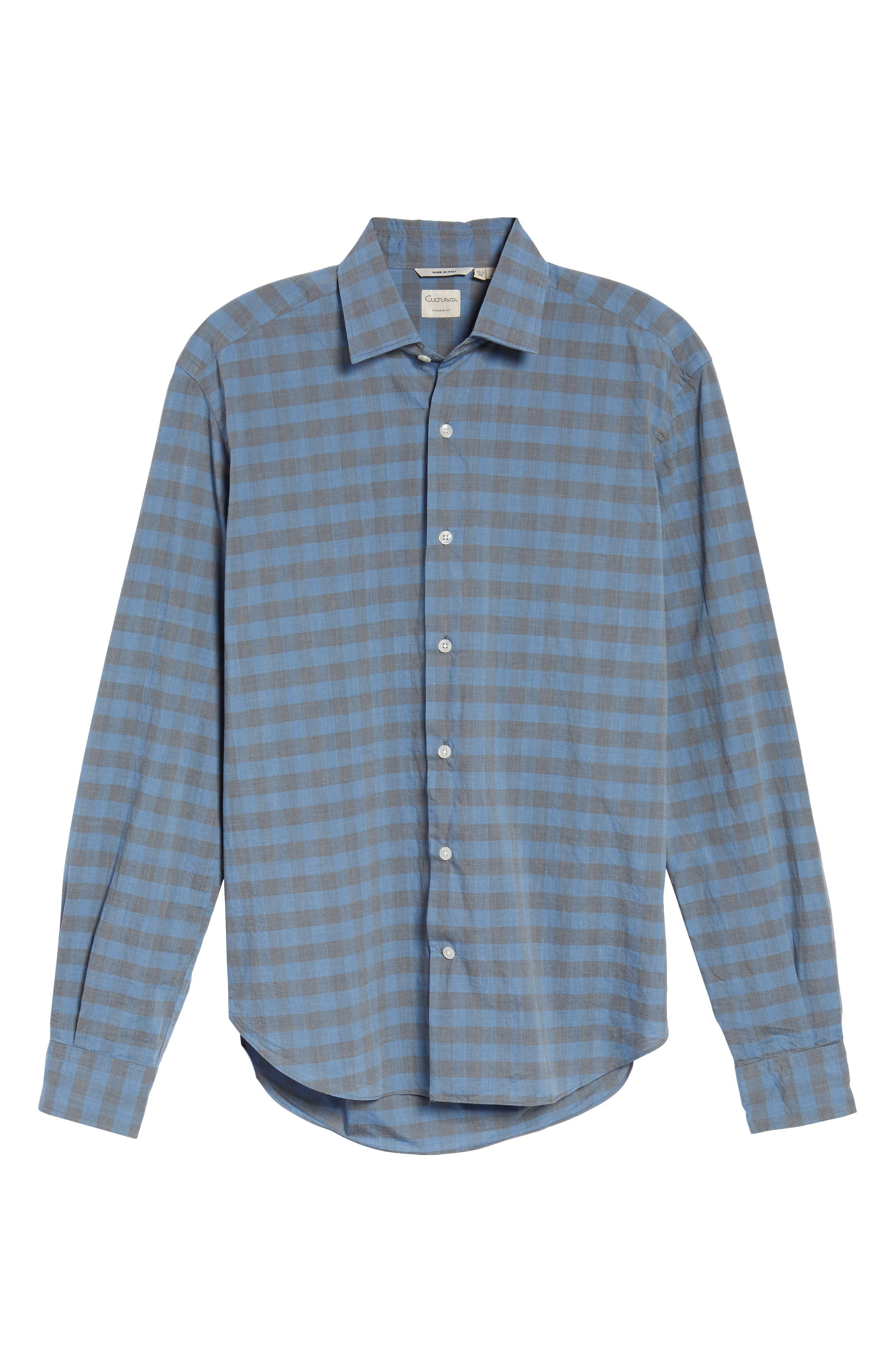 Slim Fit Check Sport Shirt,                             Alternate thumbnail 6, color,                             400