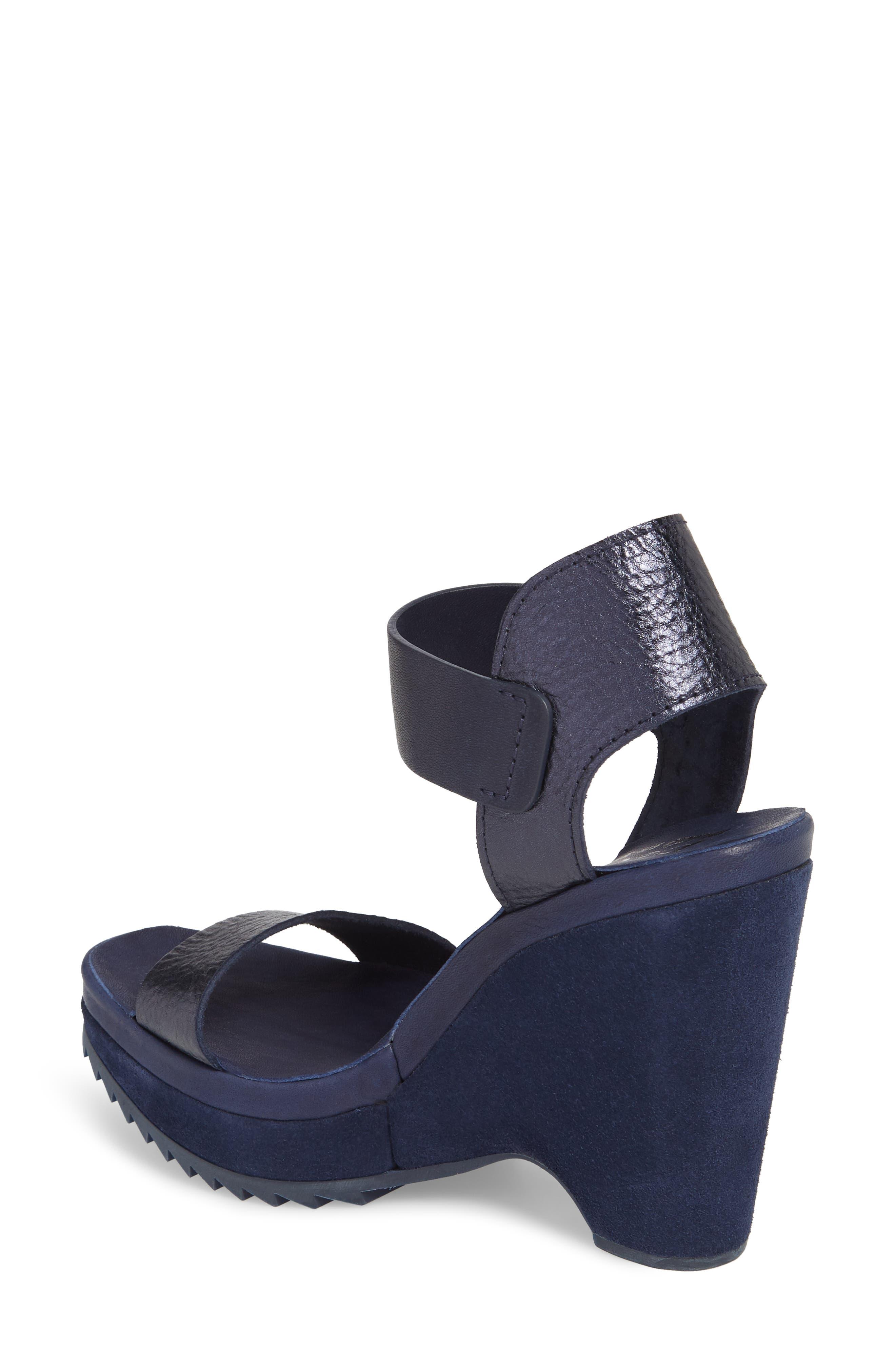 Vida Platform Wedge Sandal,                             Alternate thumbnail 2, color,                             MARINA