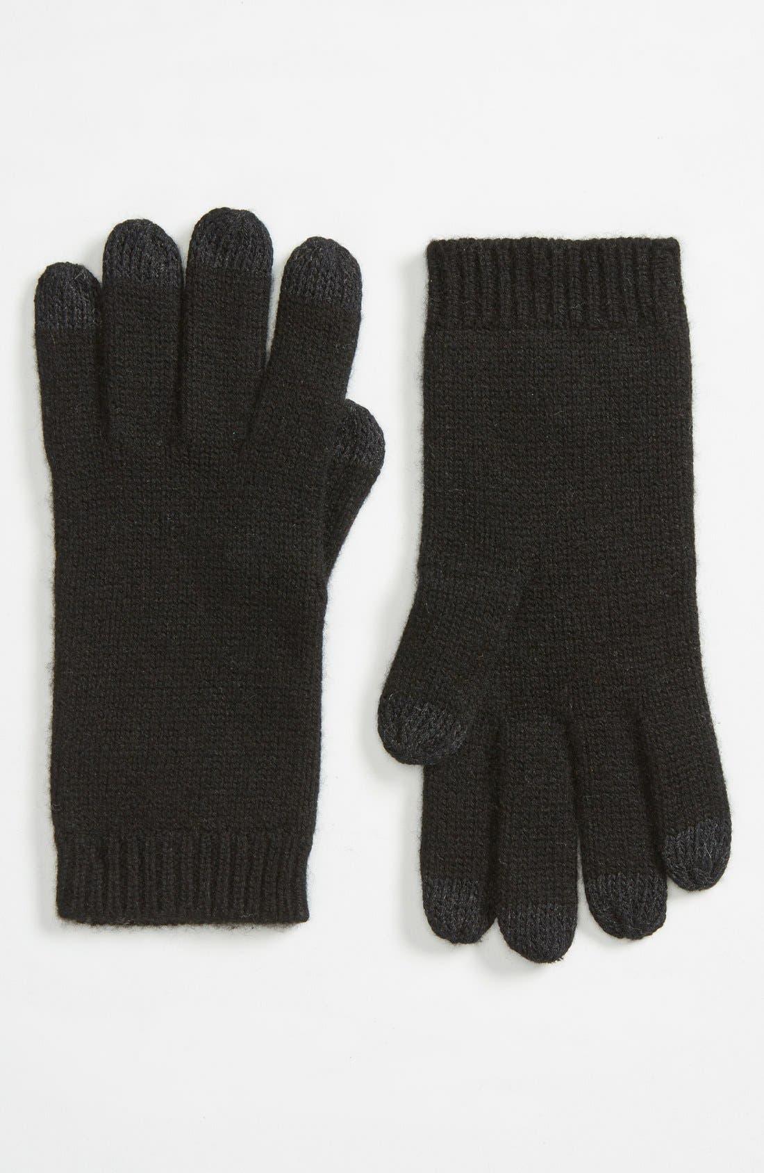 'Luxe Smart' Tech Gloves,                             Main thumbnail 1, color,                             001