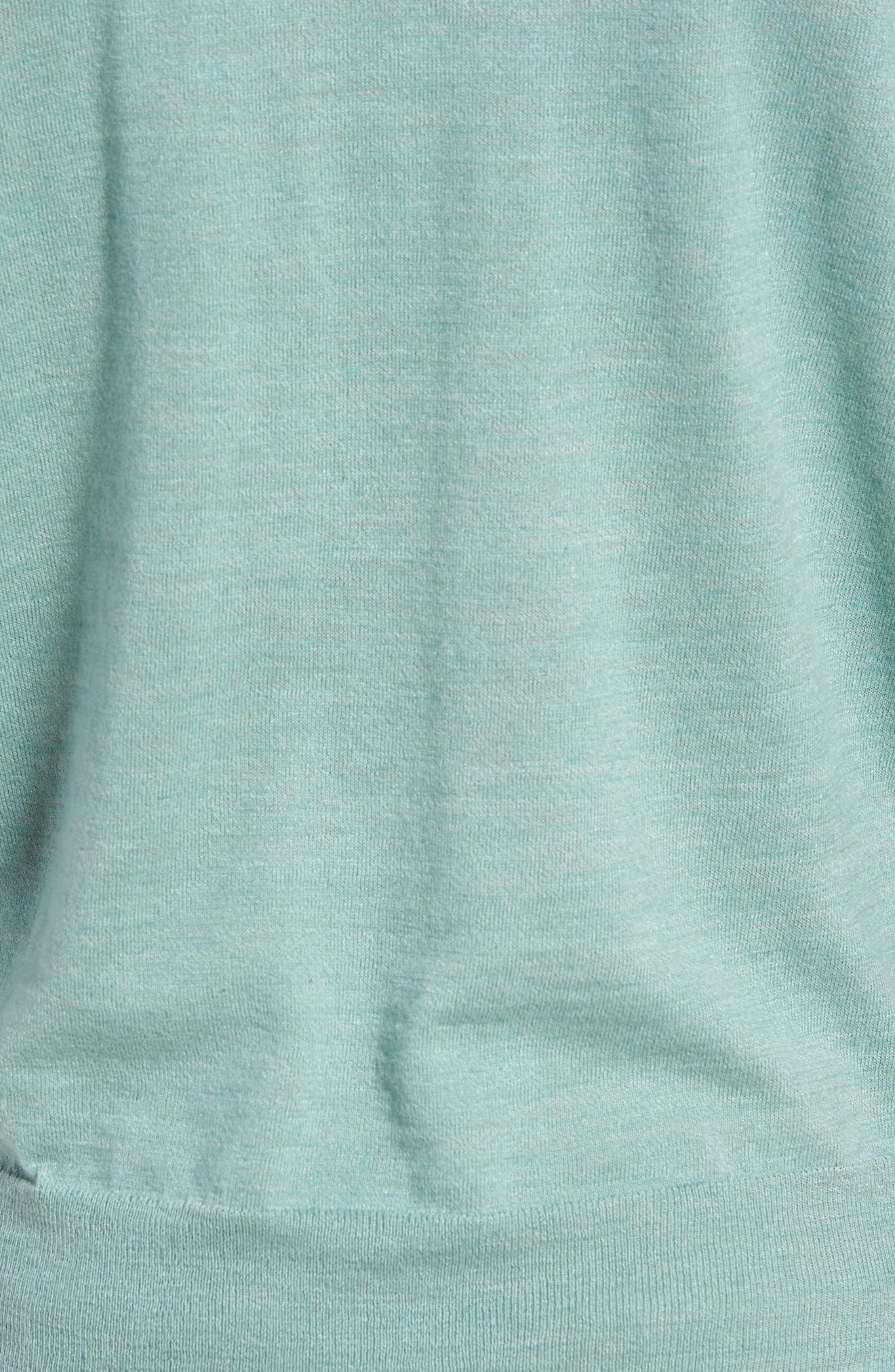 Cotton Blend Crewneck Sweater,                             Alternate thumbnail 18, color,