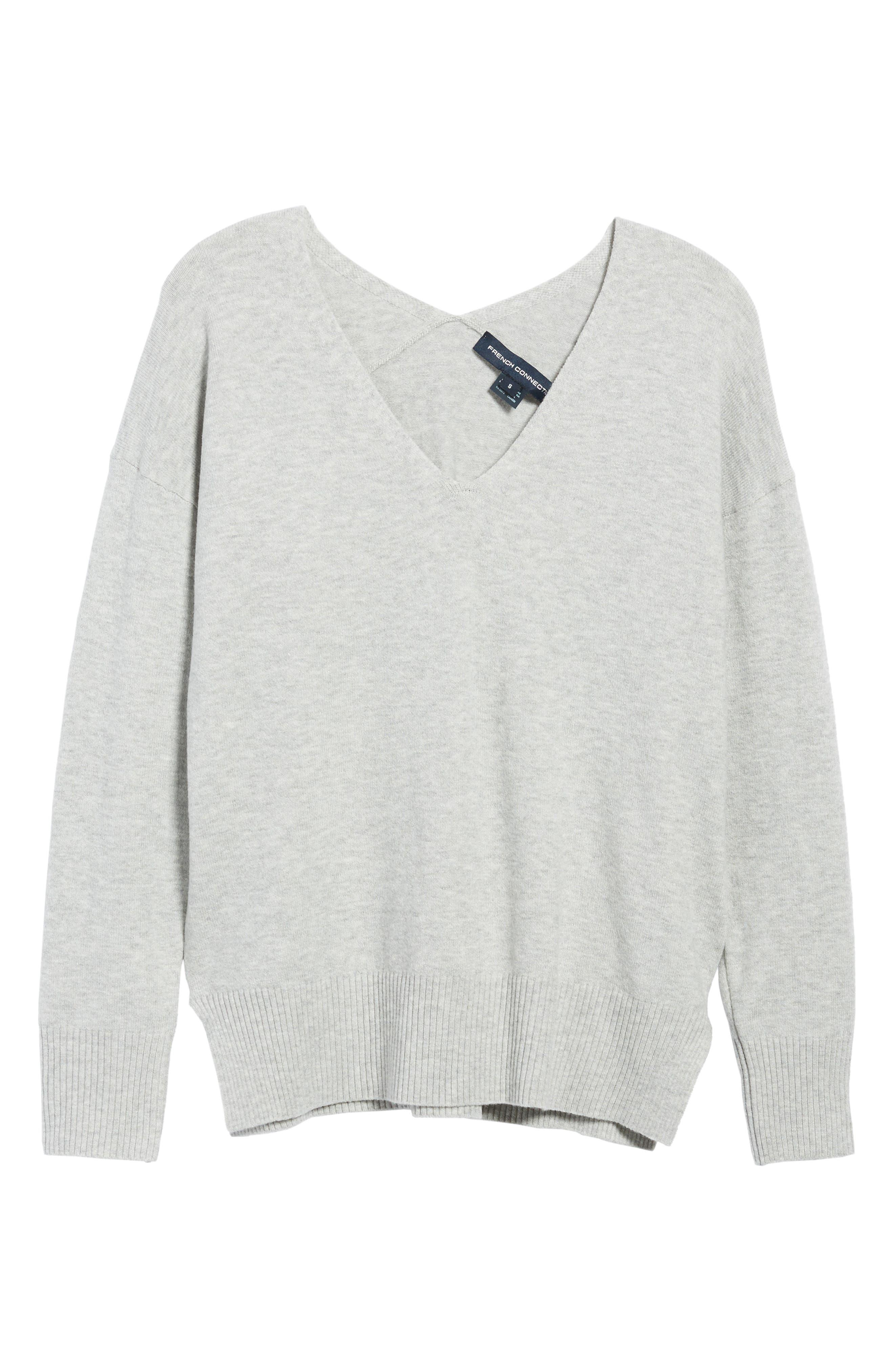 Della Vhari V-Neck Sweater,                             Alternate thumbnail 6, color,                             050