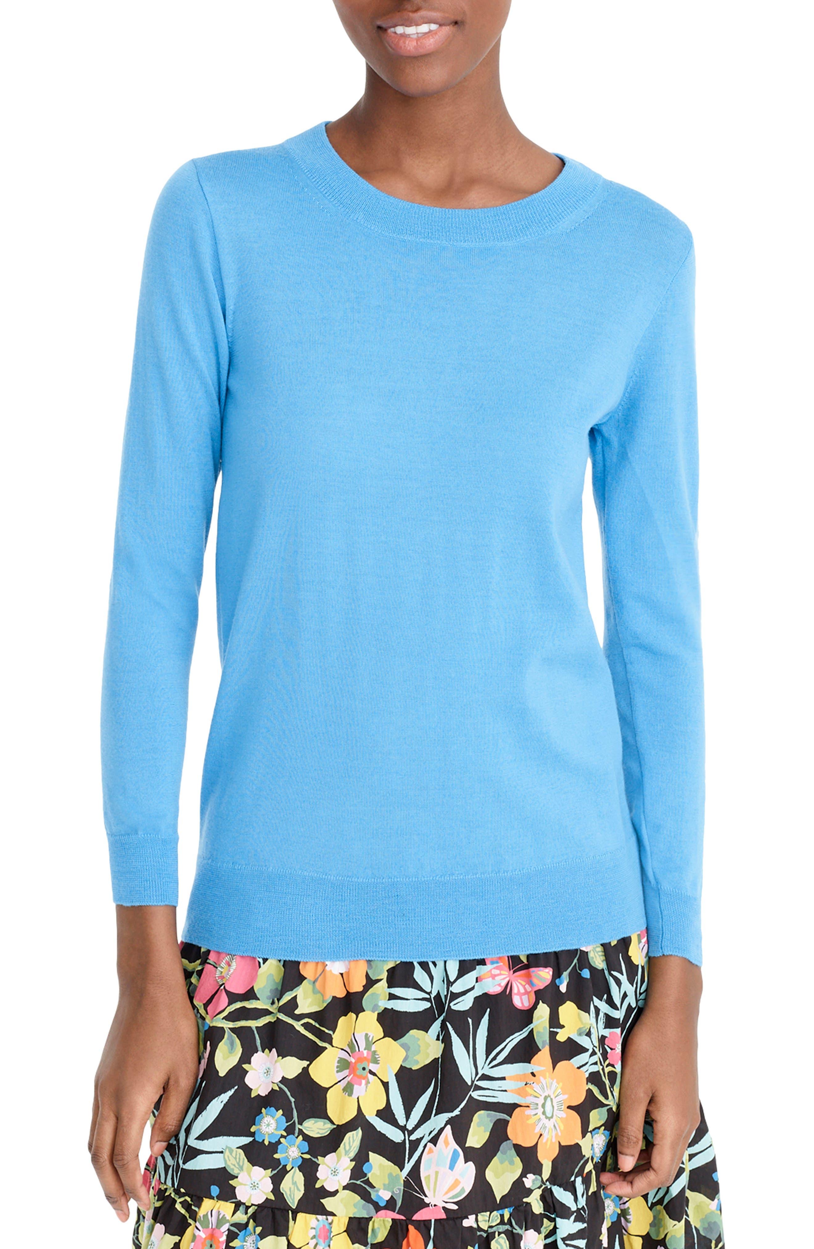 Plus Size J.crew Tippi Merino Wool Sweater, Size - Blue