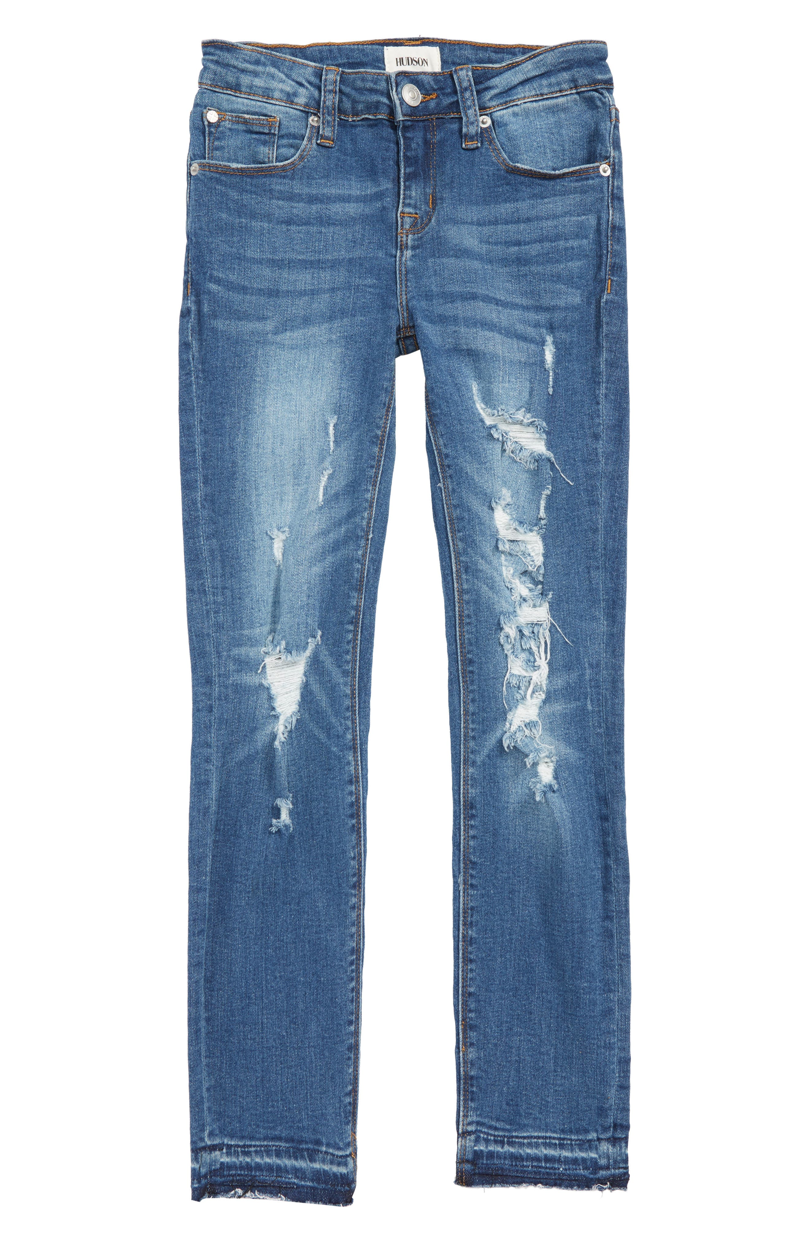 Deja Ripped Crop Jeans, Main, color, 464