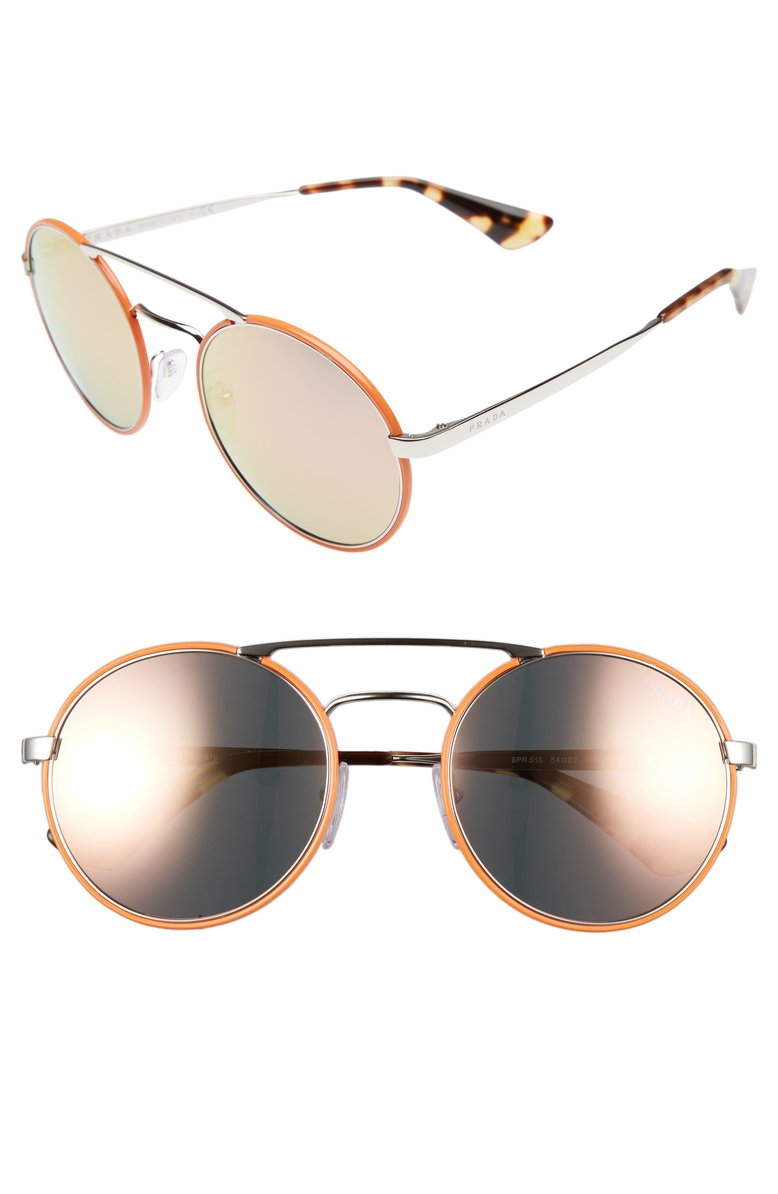 54mm Round Sunglasses,                             Main thumbnail 4, color,