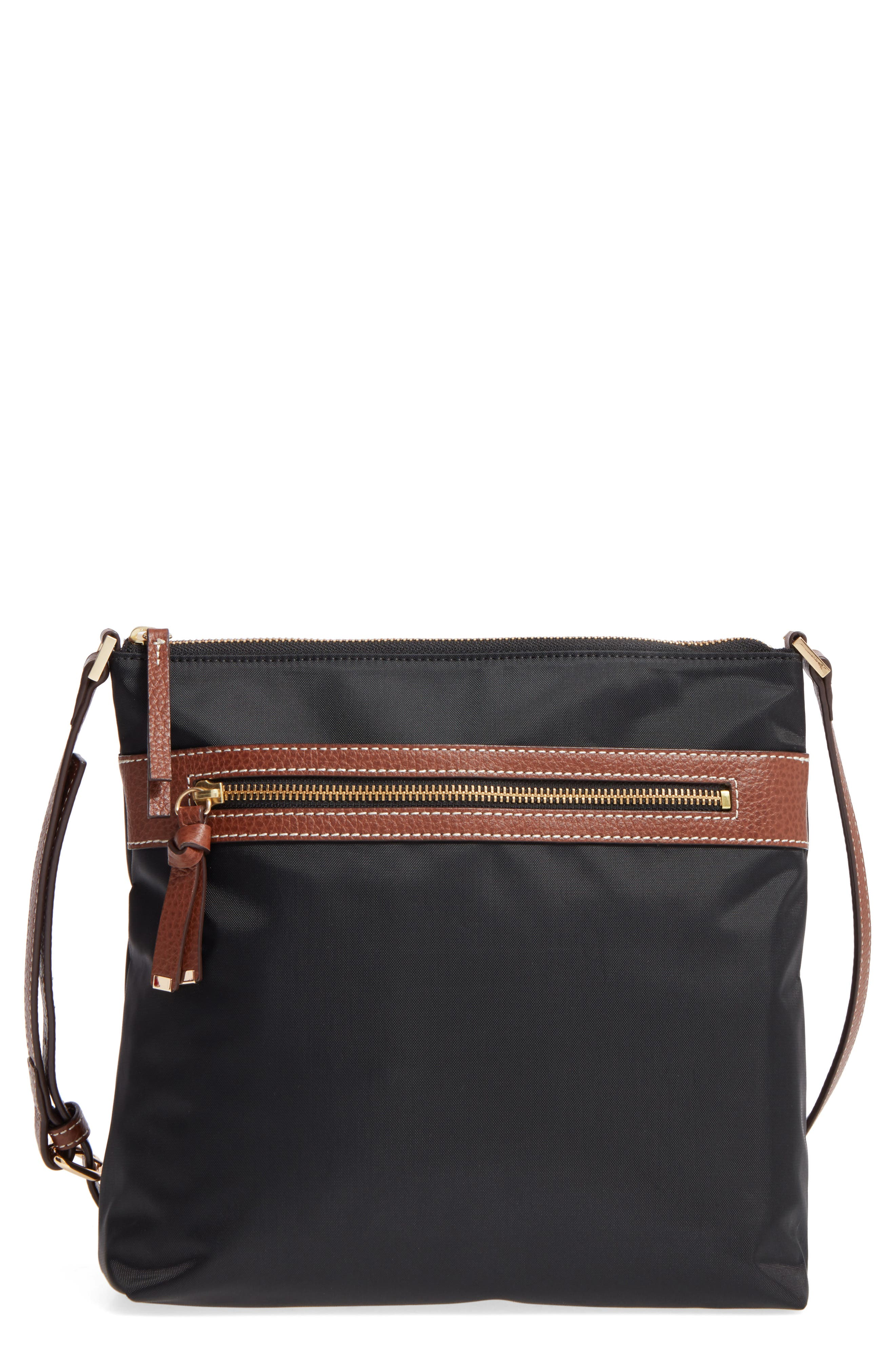 Halogen Nylon Crossbody Bag,                             Main thumbnail 1, color,                             001