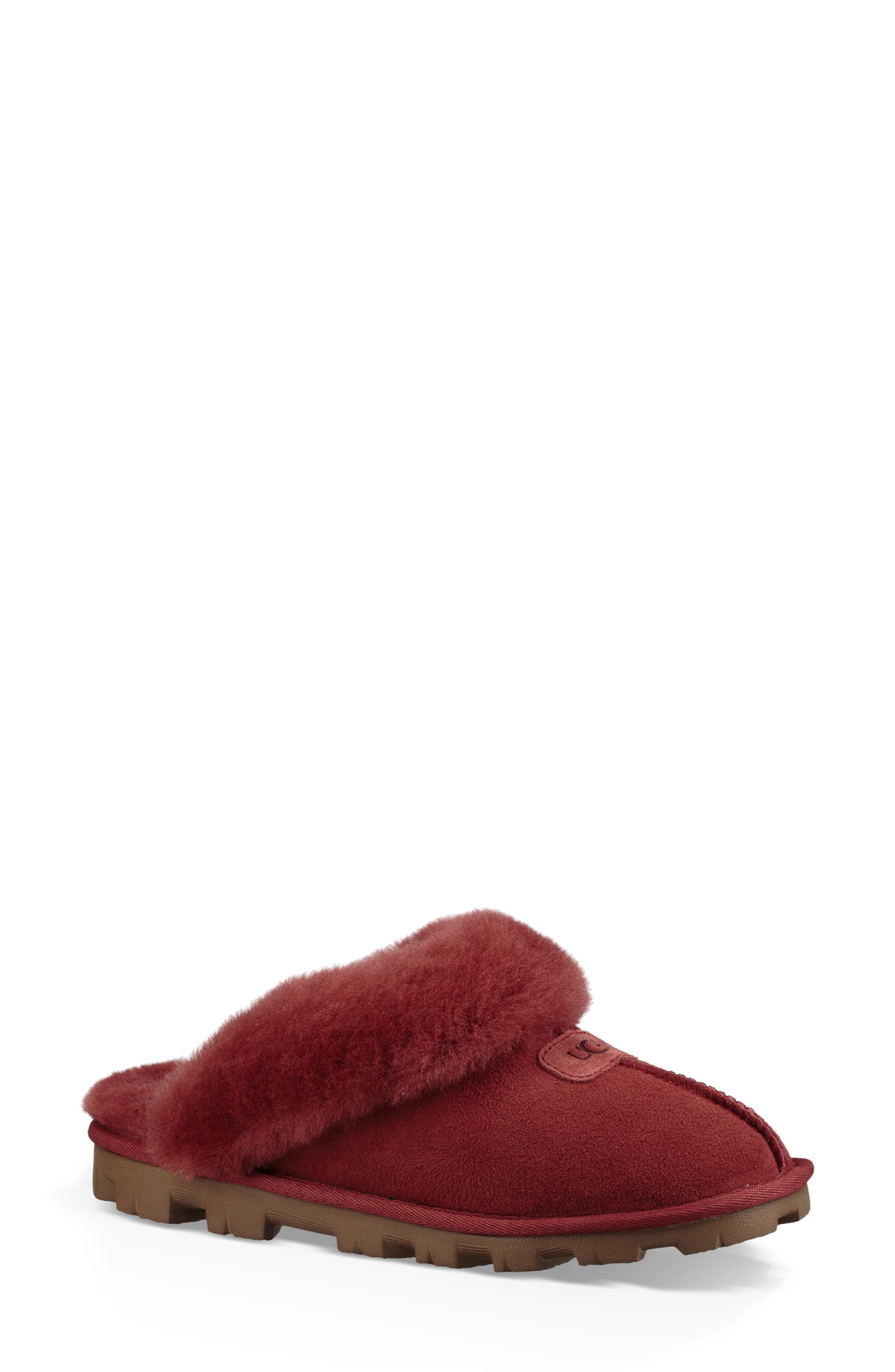 Ugg Genuine Shearling Slipper, Red