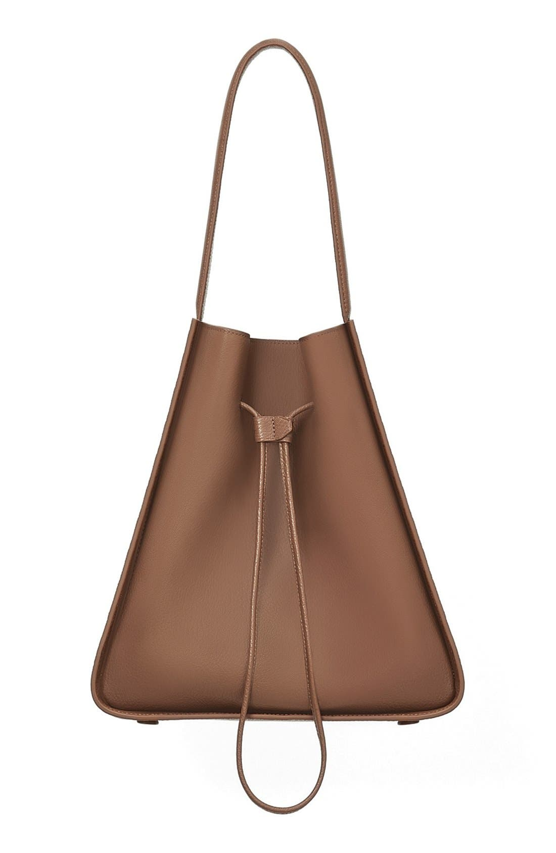 'Large Soleil' Leather Bucket Bag,                             Main thumbnail 3, color,