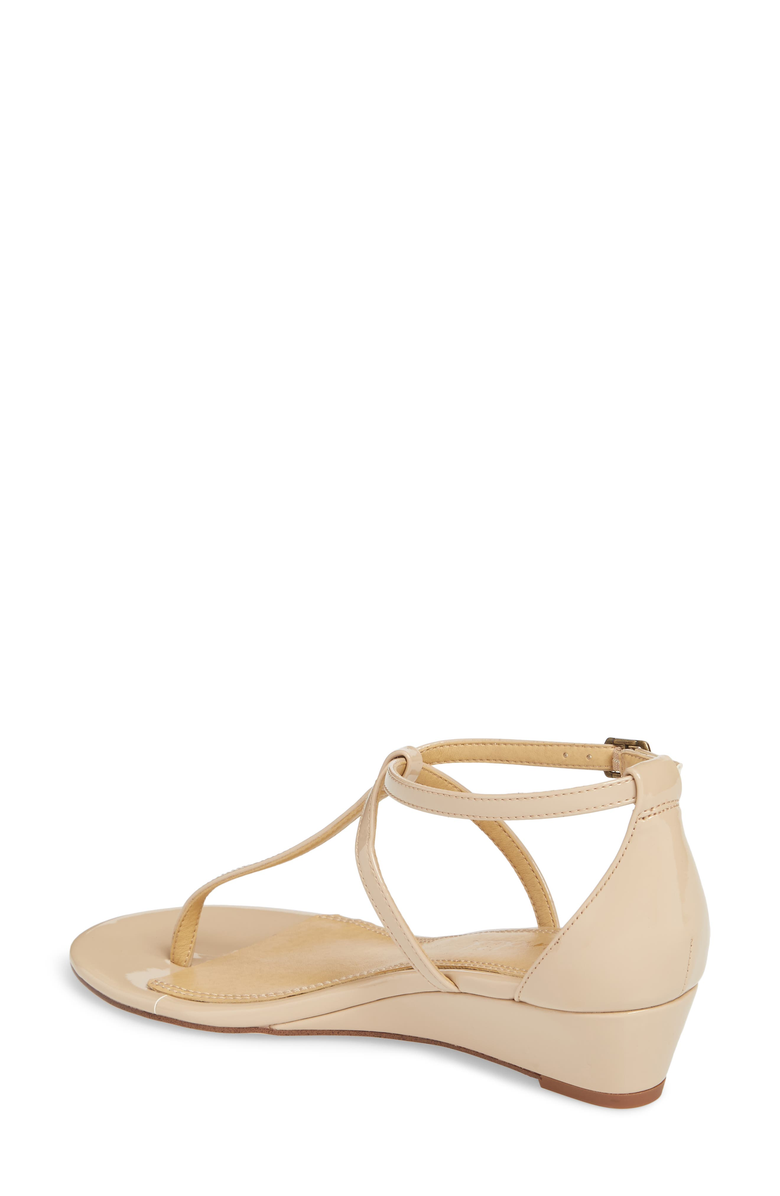Bryce T-Strap Wedge Sandal,                             Alternate thumbnail 9, color,