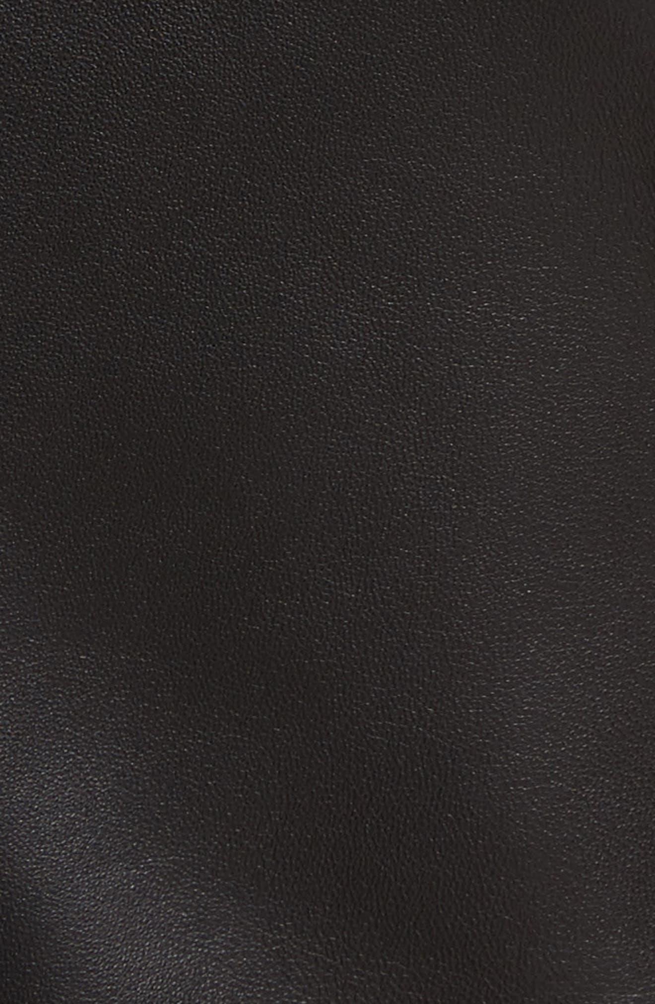 Mollison Leather Moto Jacket,                             Alternate thumbnail 14, color,