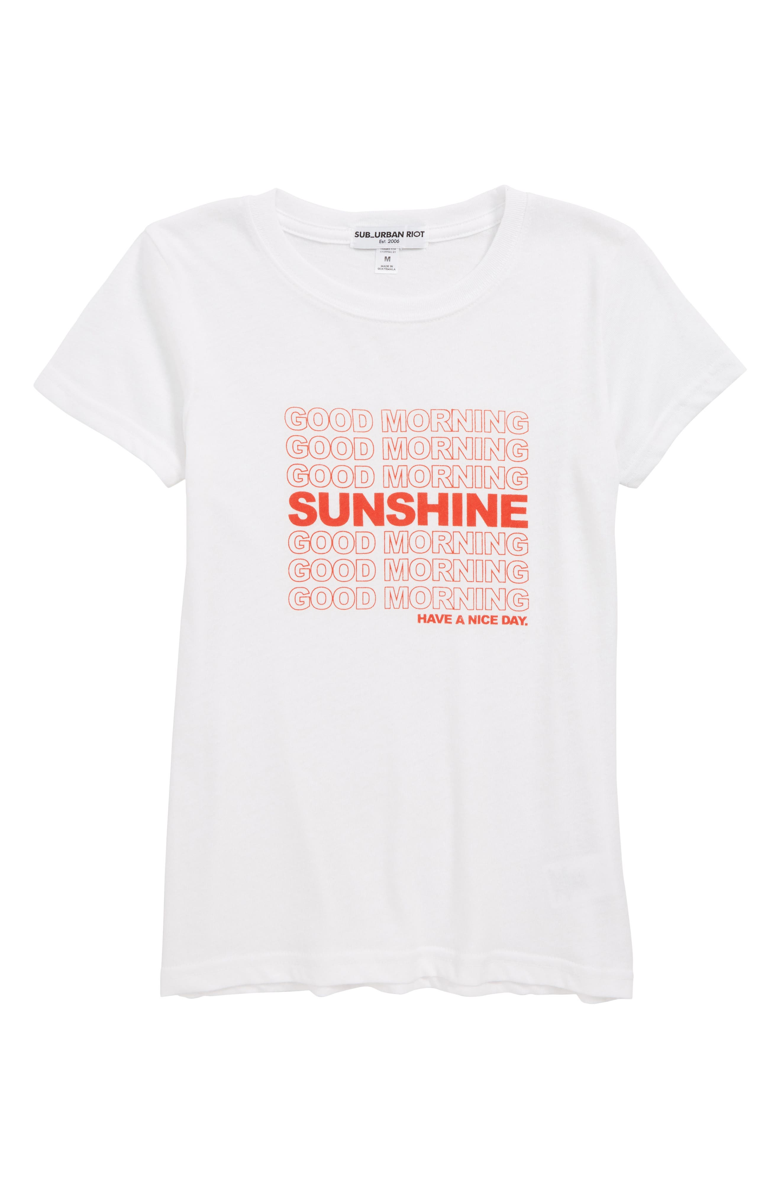 Good Morning Sunshine Tee,                             Main thumbnail 1, color,                             WHITE