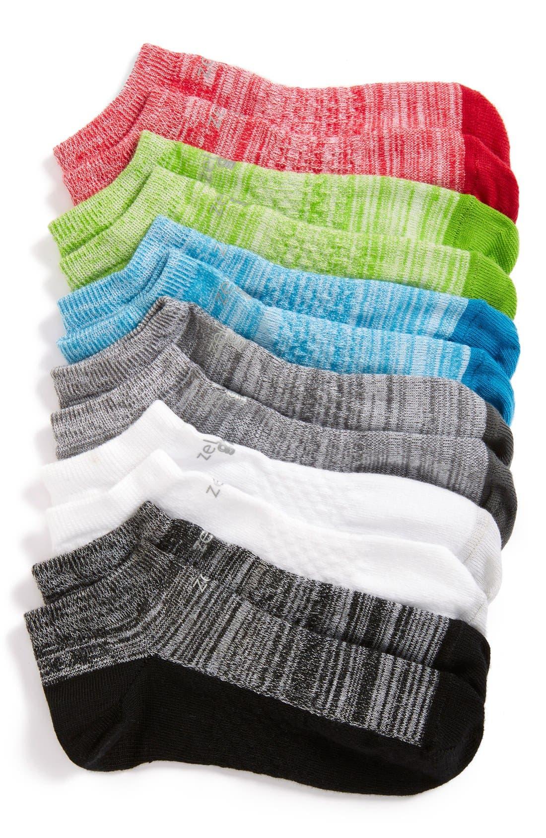 6-Pack Ankle Socks,                             Main thumbnail 8, color,