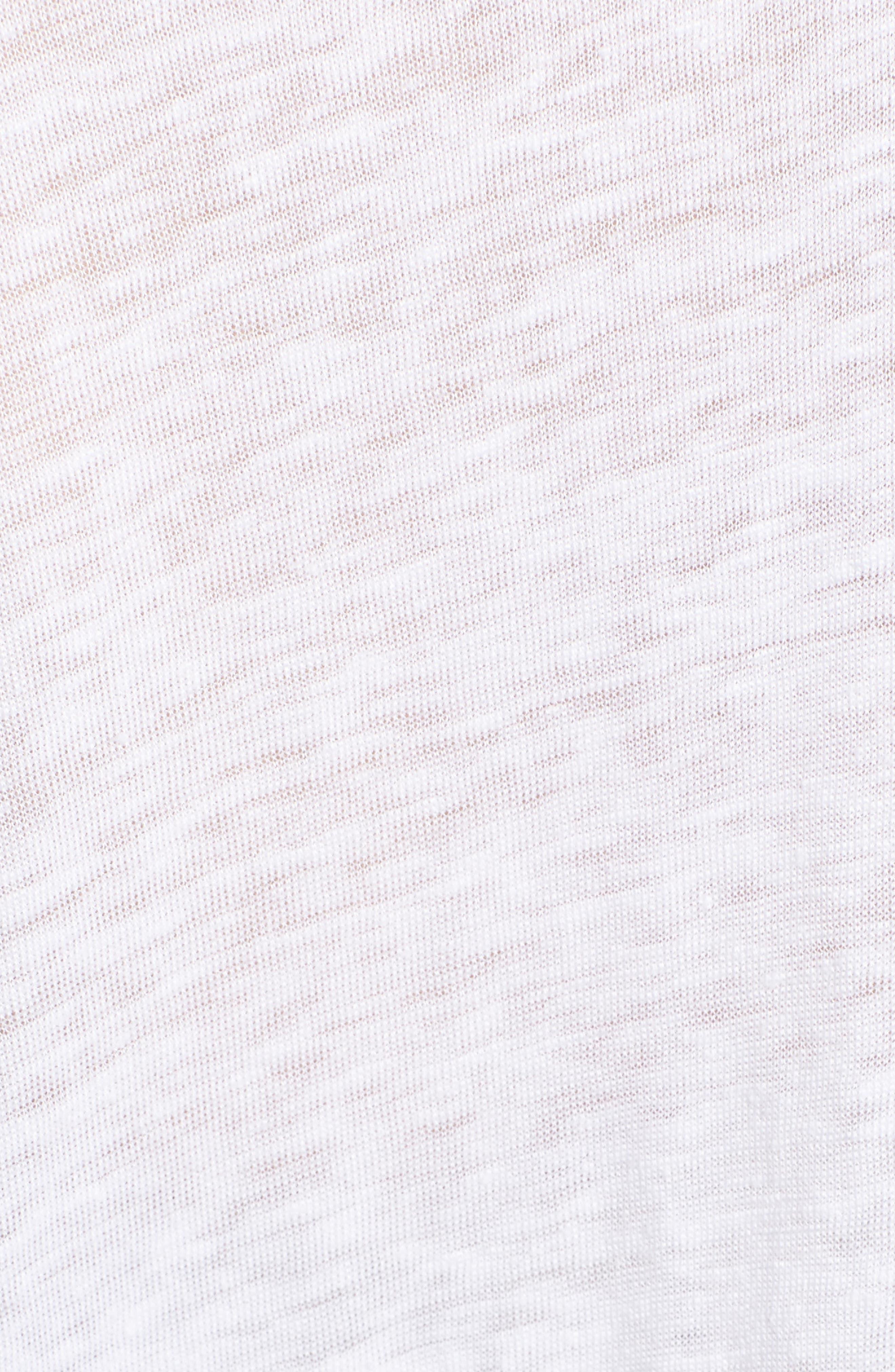Lara Linen Blend Top with Pom Pom Trim,                             Alternate thumbnail 5, color,                             153