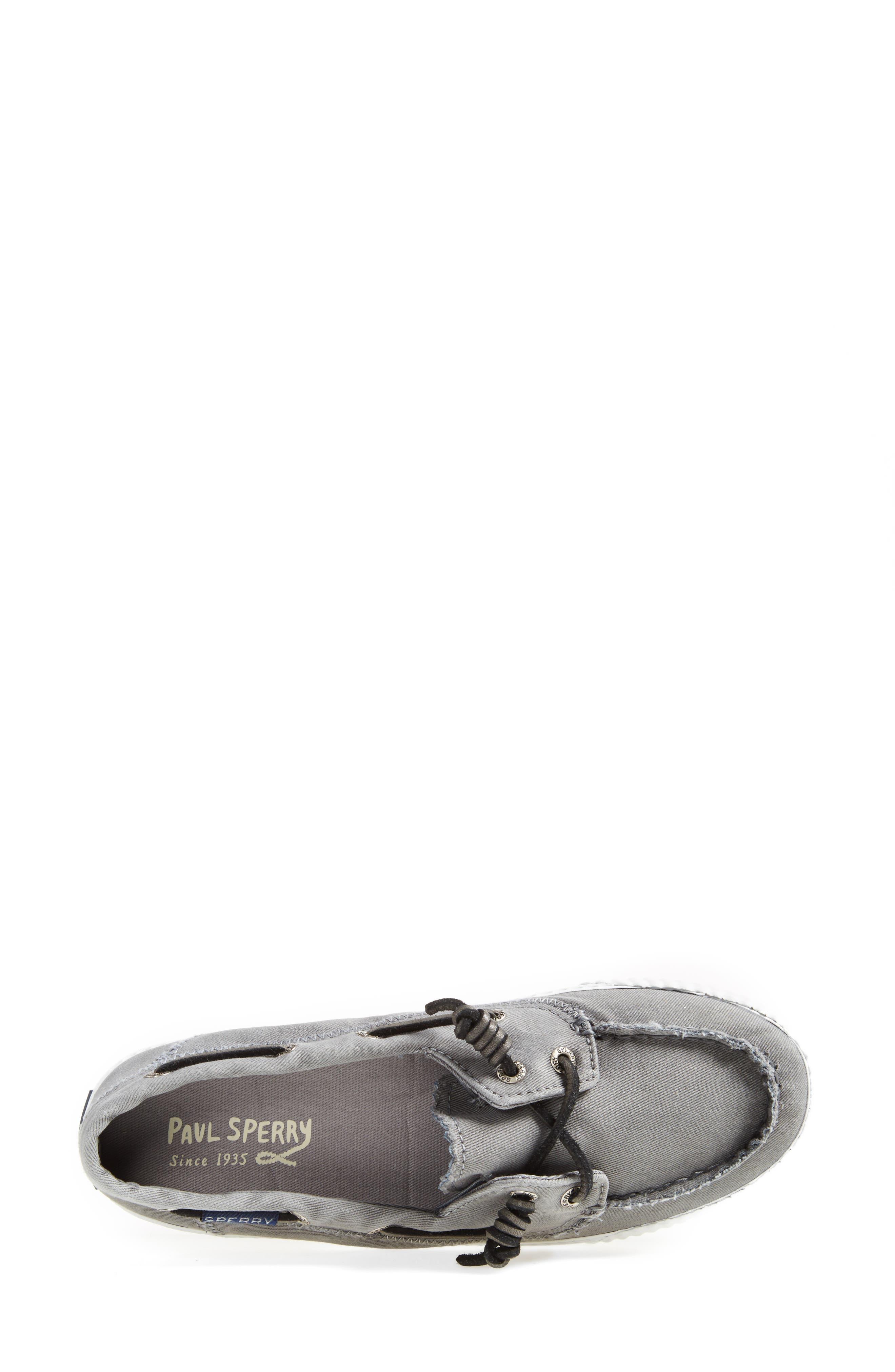 Paul Sperry 'Sayel Away' Sneaker,                             Alternate thumbnail 4, color,                             GREY