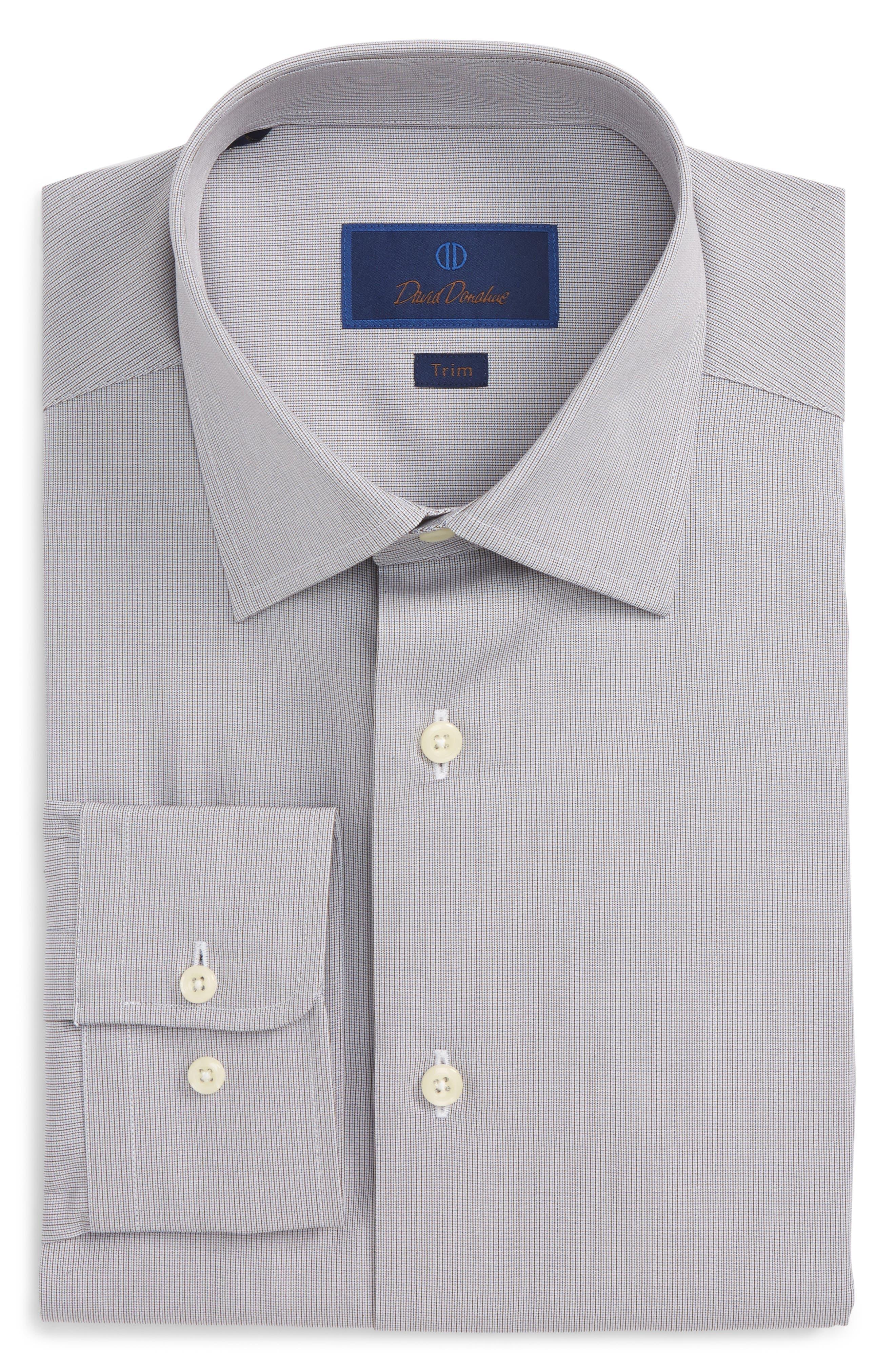 Trim Fit Stripe Dress Shirt,                         Main,                         color, 212