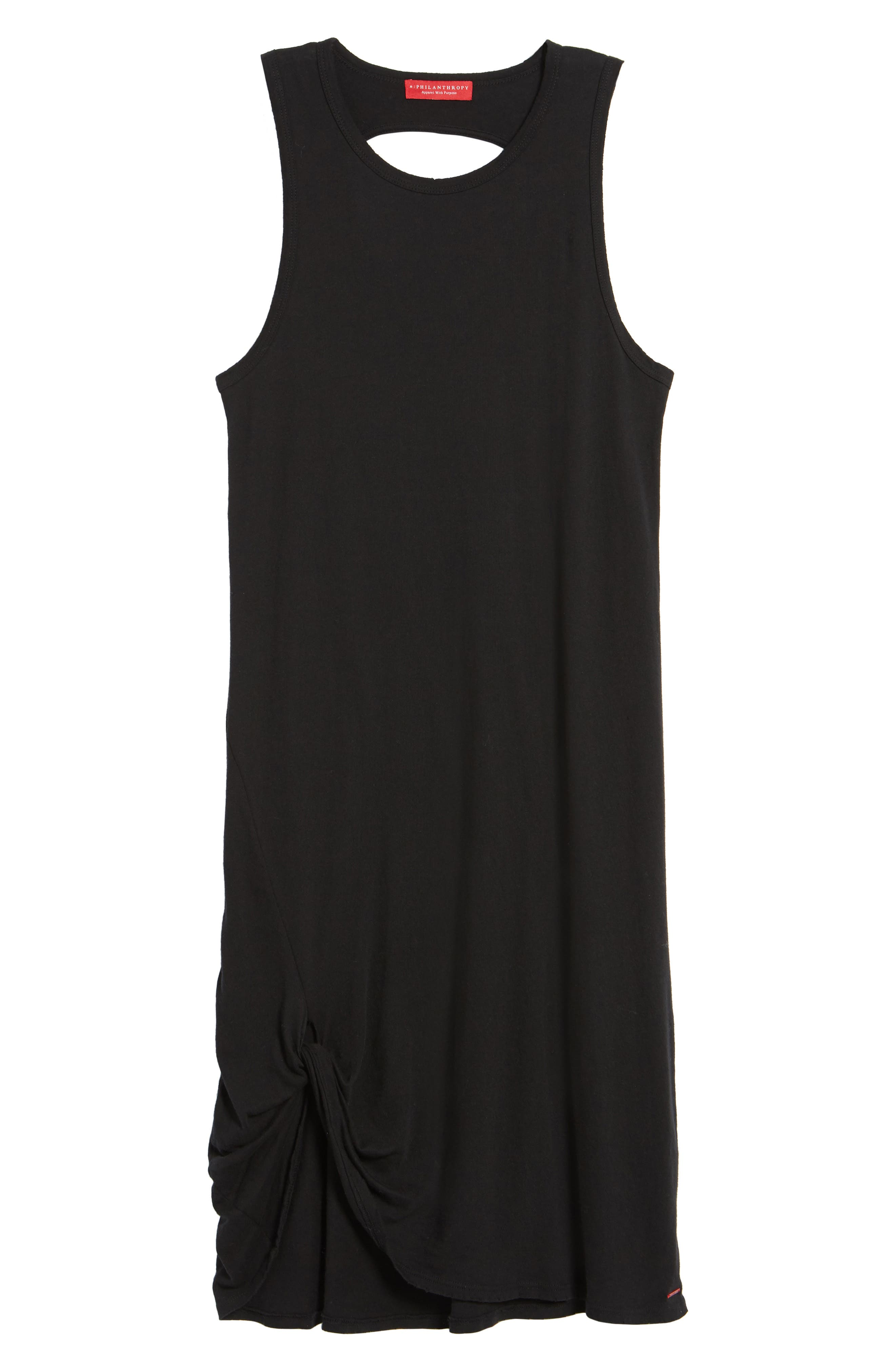 Boo Jersey Tank Dress,                             Alternate thumbnail 6, color,                             001
