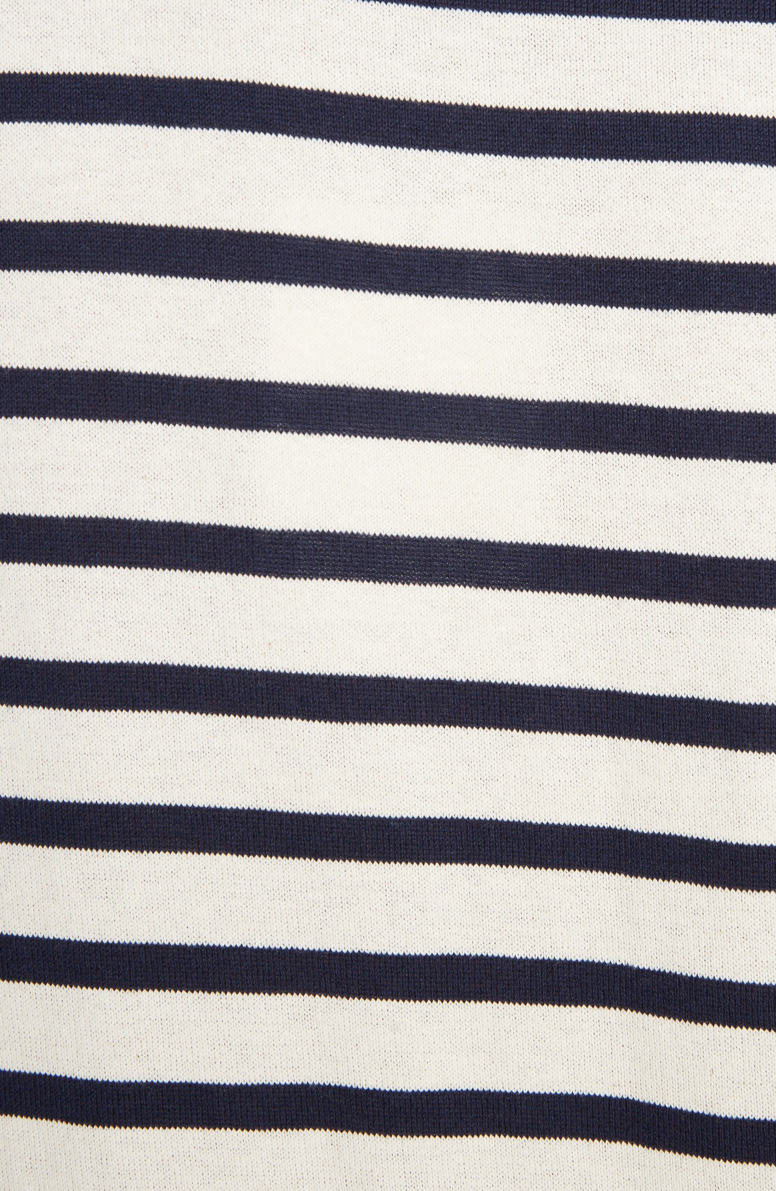 Breton Stripe Knot Sleeve Tee,                             Alternate thumbnail 5, color,                             900