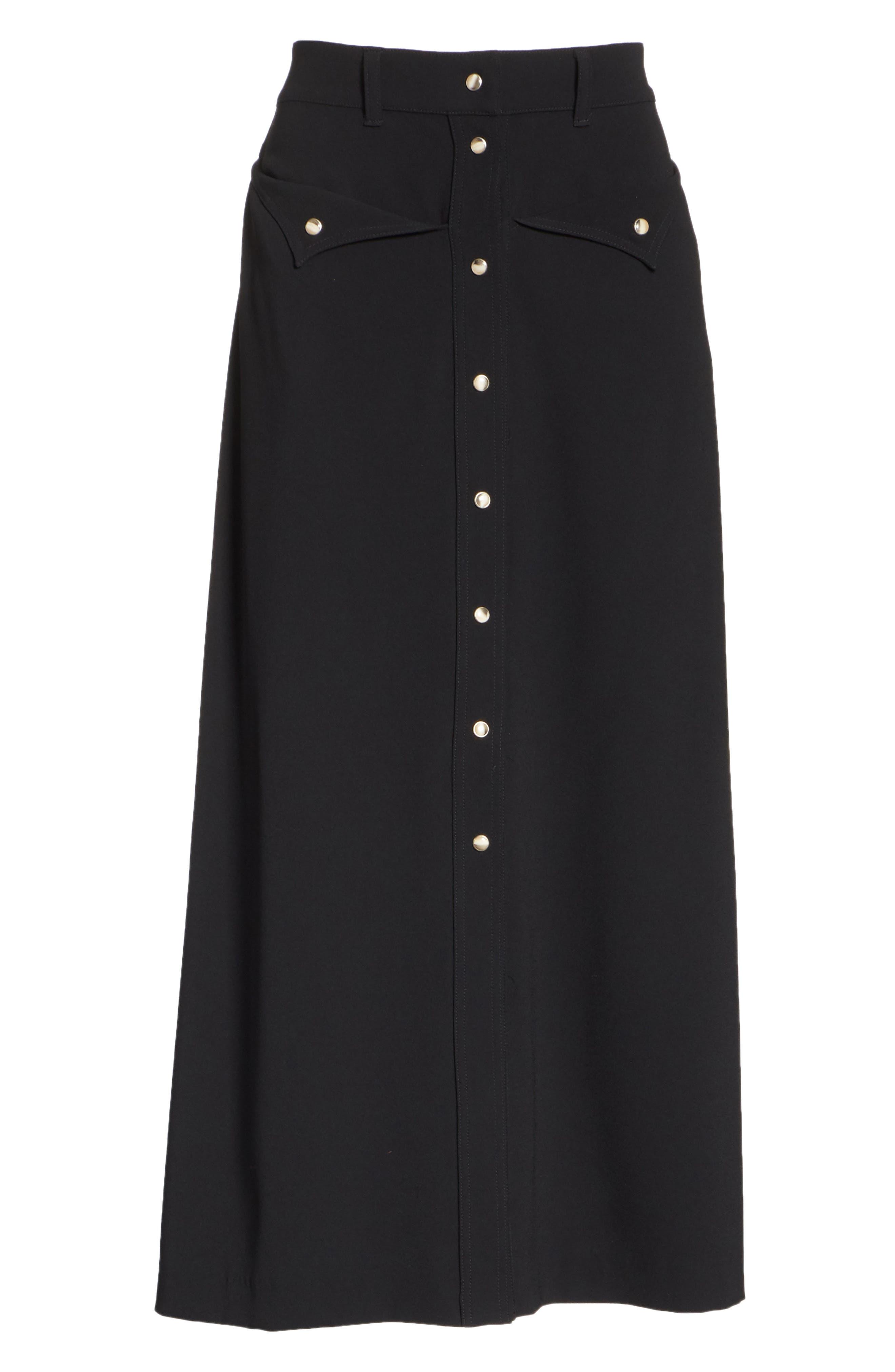 Meida Midi Skirt,                             Alternate thumbnail 6, color,                             003