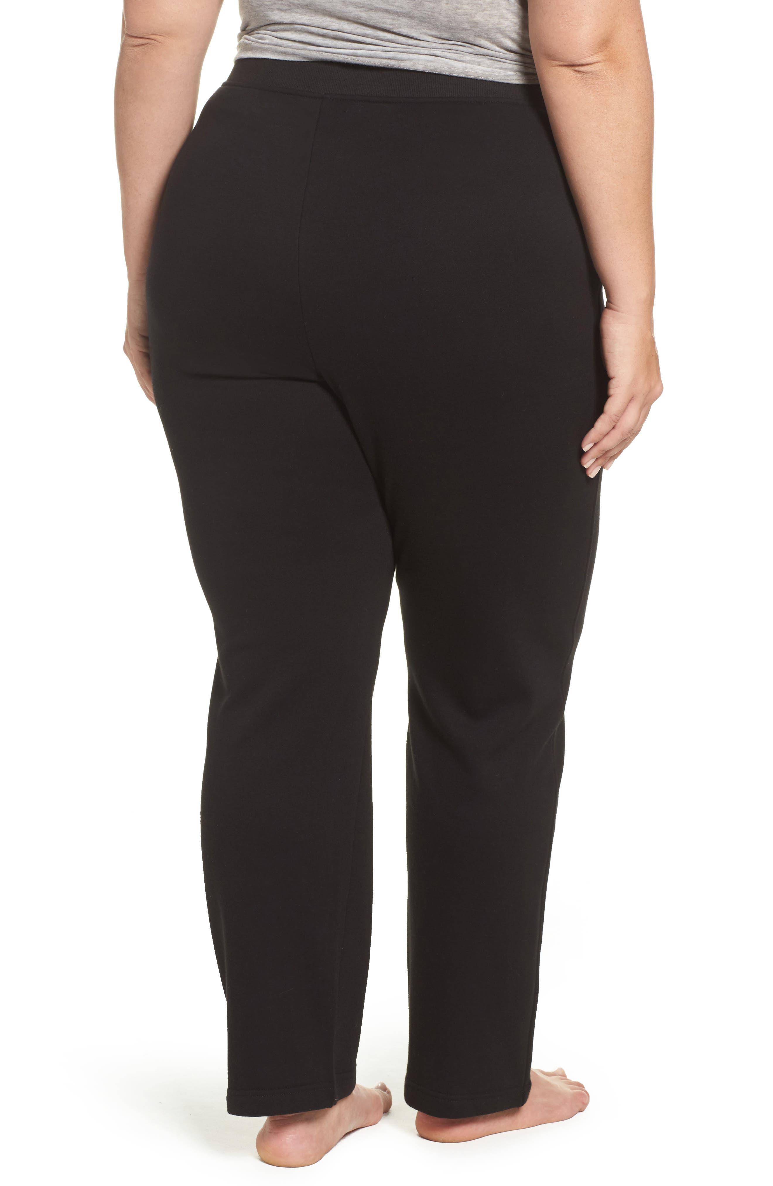 Penny Fleece Sweatpants,                             Alternate thumbnail 2, color,                             BLACK