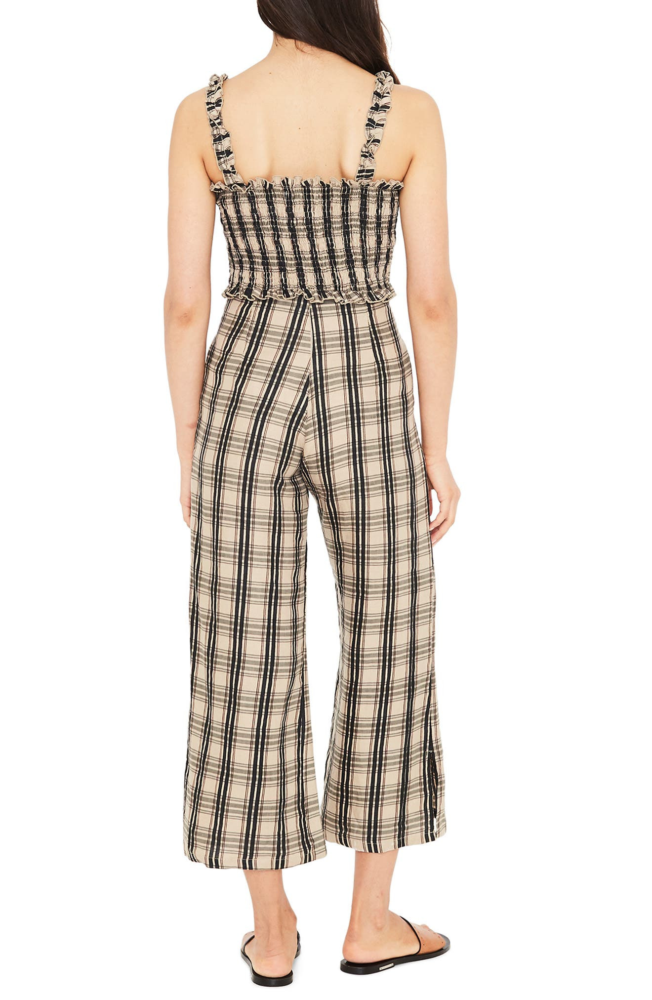 Carmen Plaid Crop Flare Pants,                             Alternate thumbnail 6, color,                             HILLARY PRINT