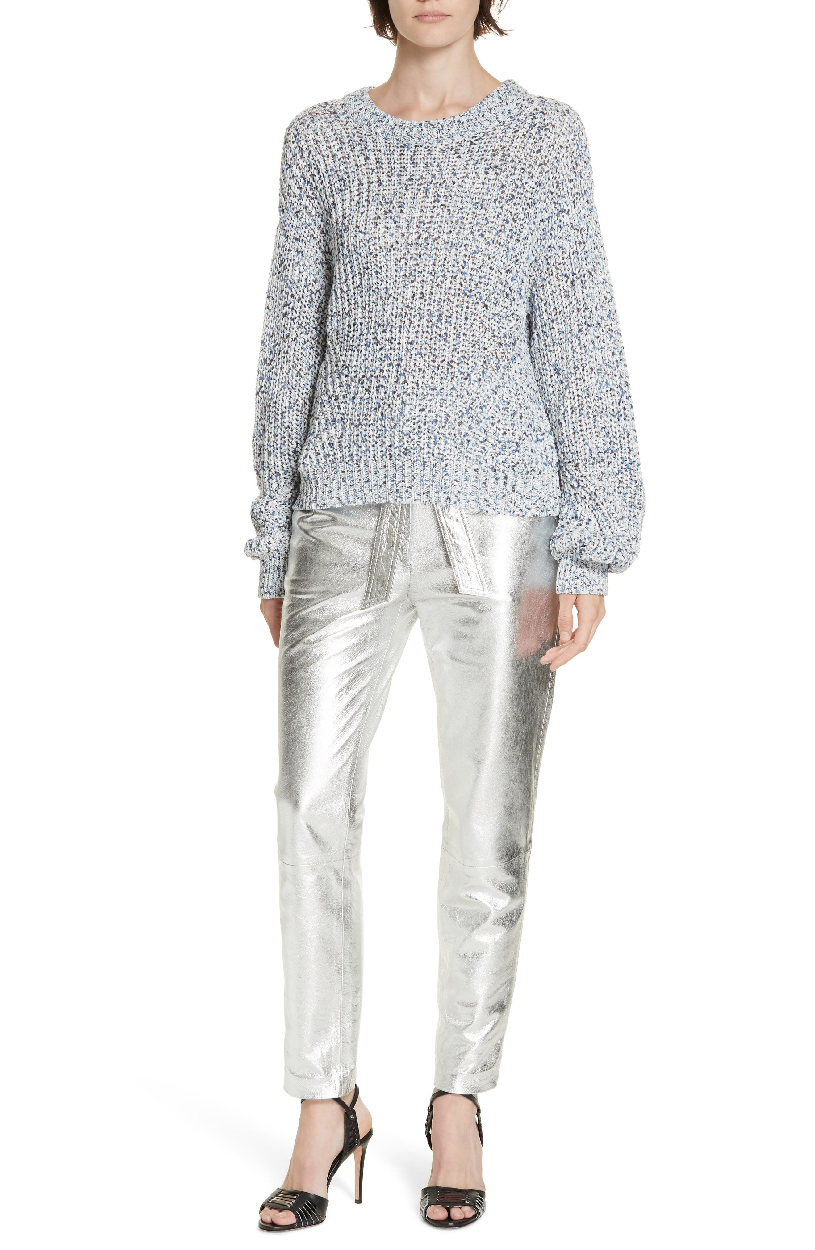 Ryce Cotton Sweater,                             Alternate thumbnail 7, color,                             BLUE MULIT