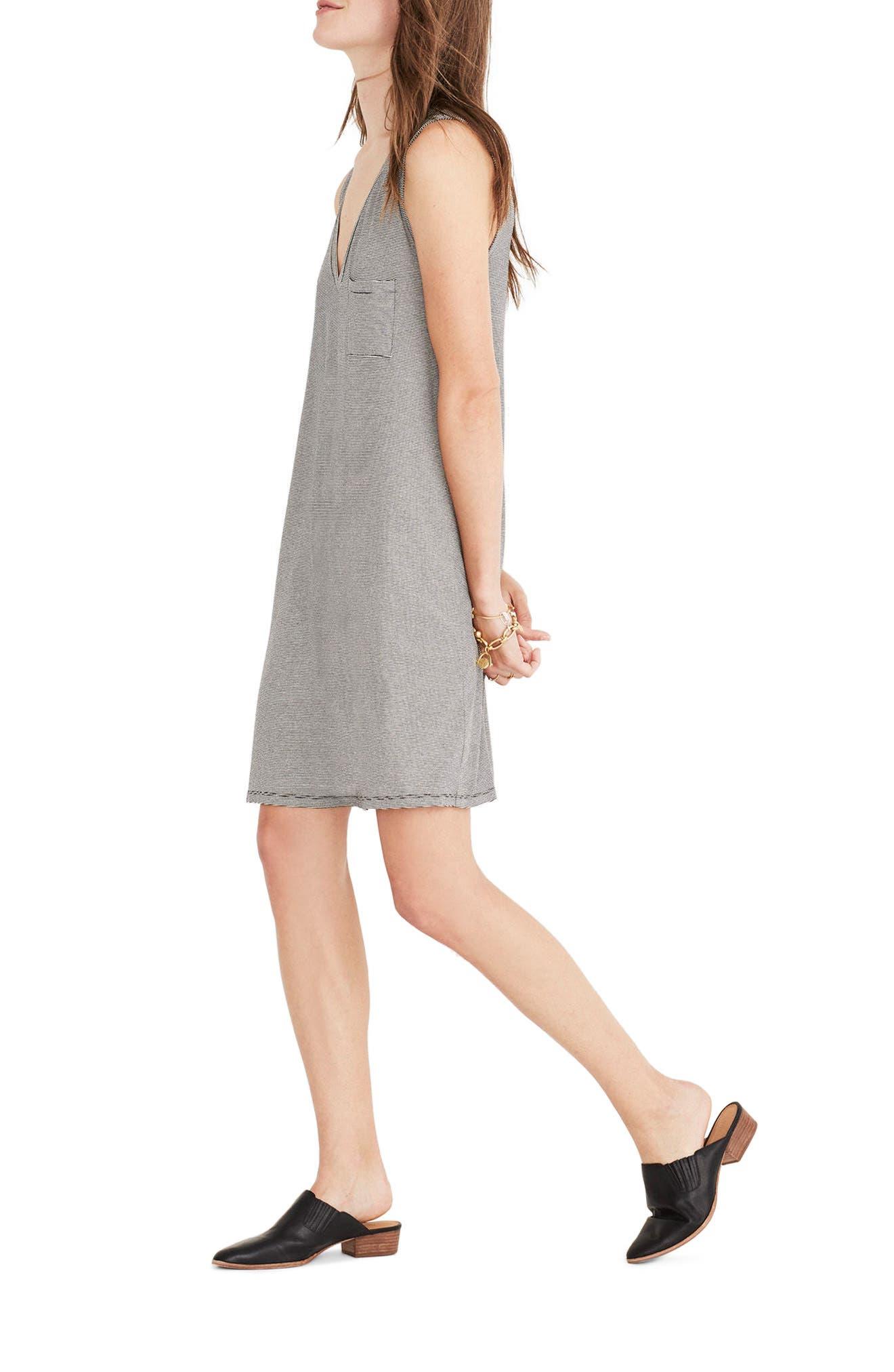 Stripe Swingy Tank Dress,                             Alternate thumbnail 2, color,                             100