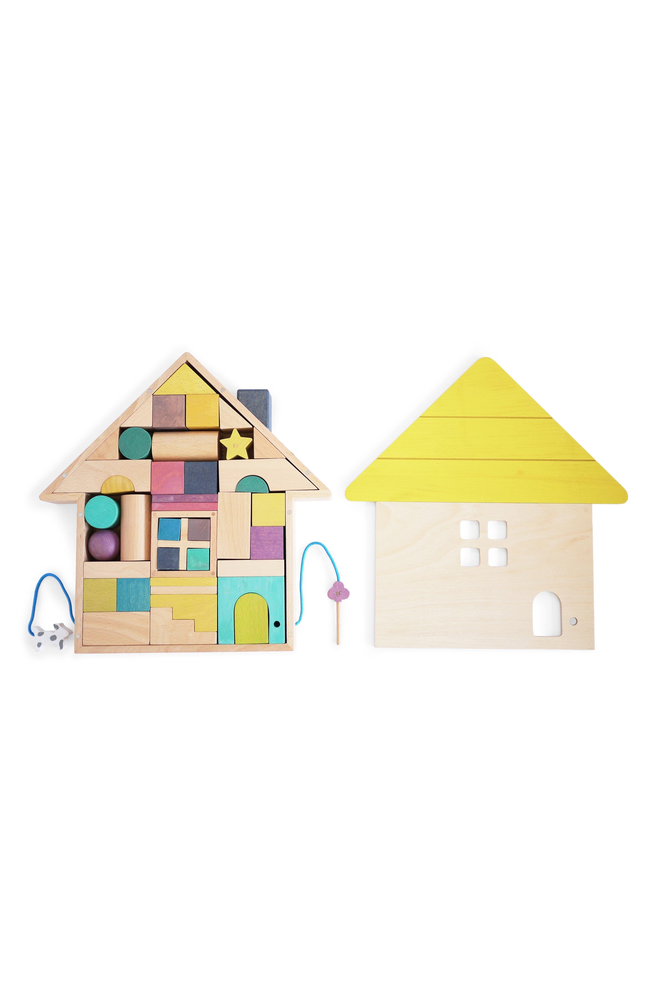 Toddler Kukkia Tsumiki House Wooden Building Block Set