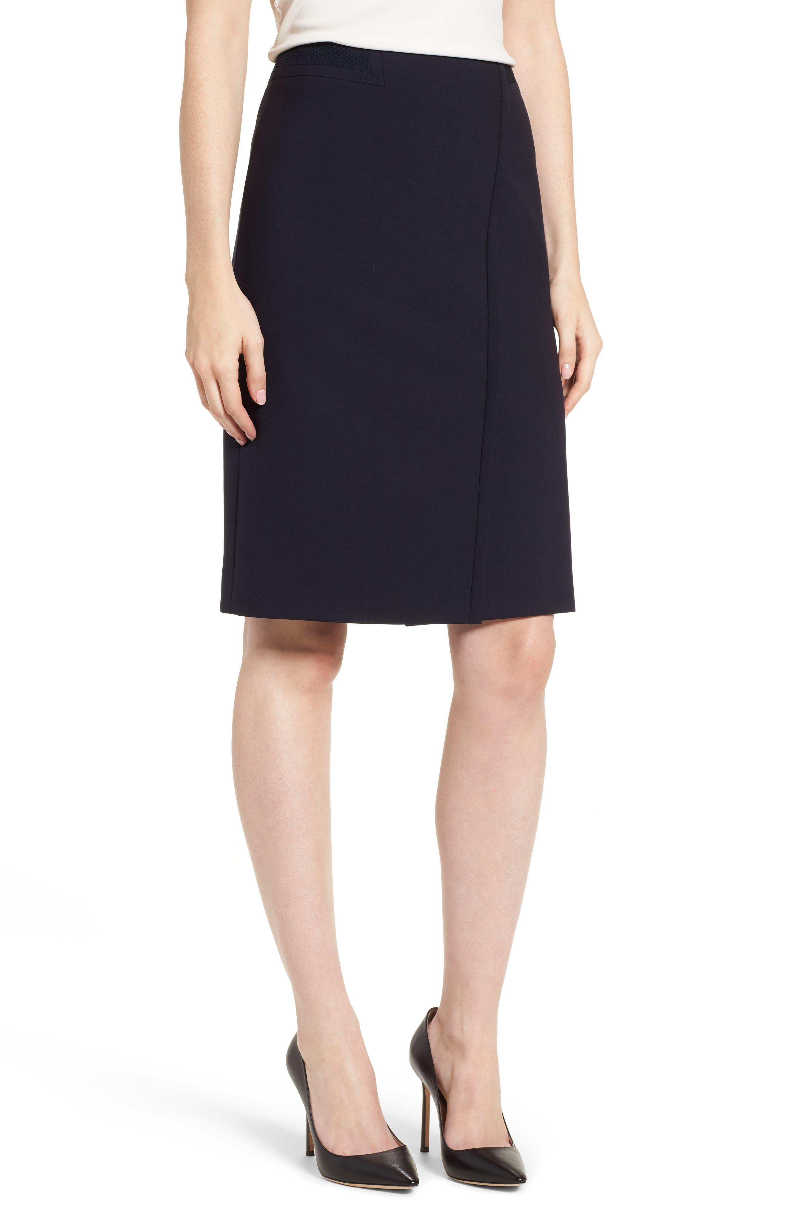 Vadama Ponte Pencil Skirt,                             Main thumbnail 1, color,                             480