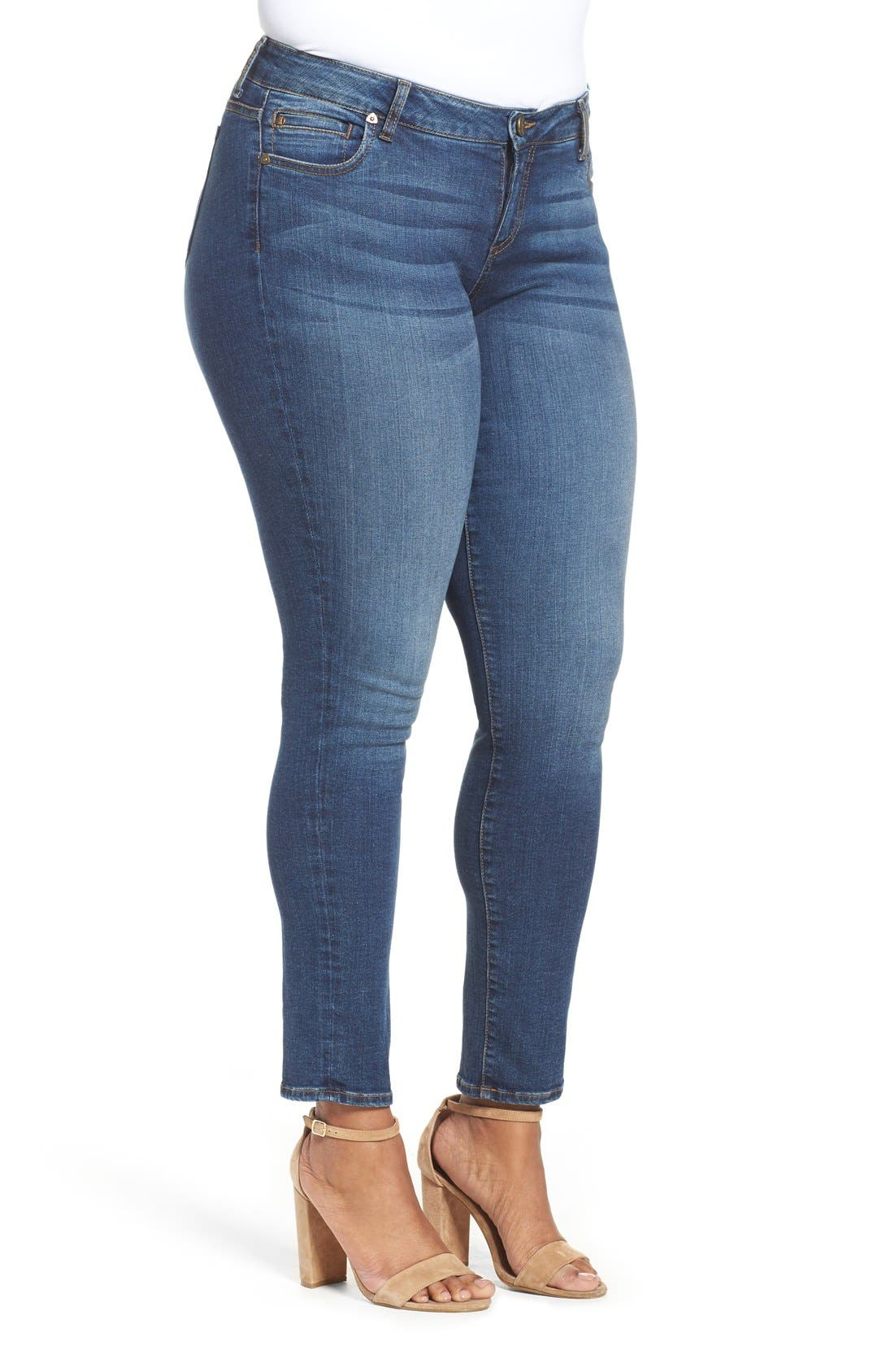 Mia Toothpick Stretch Skinny Jeans,                             Alternate thumbnail 5, color,                             REPOSE