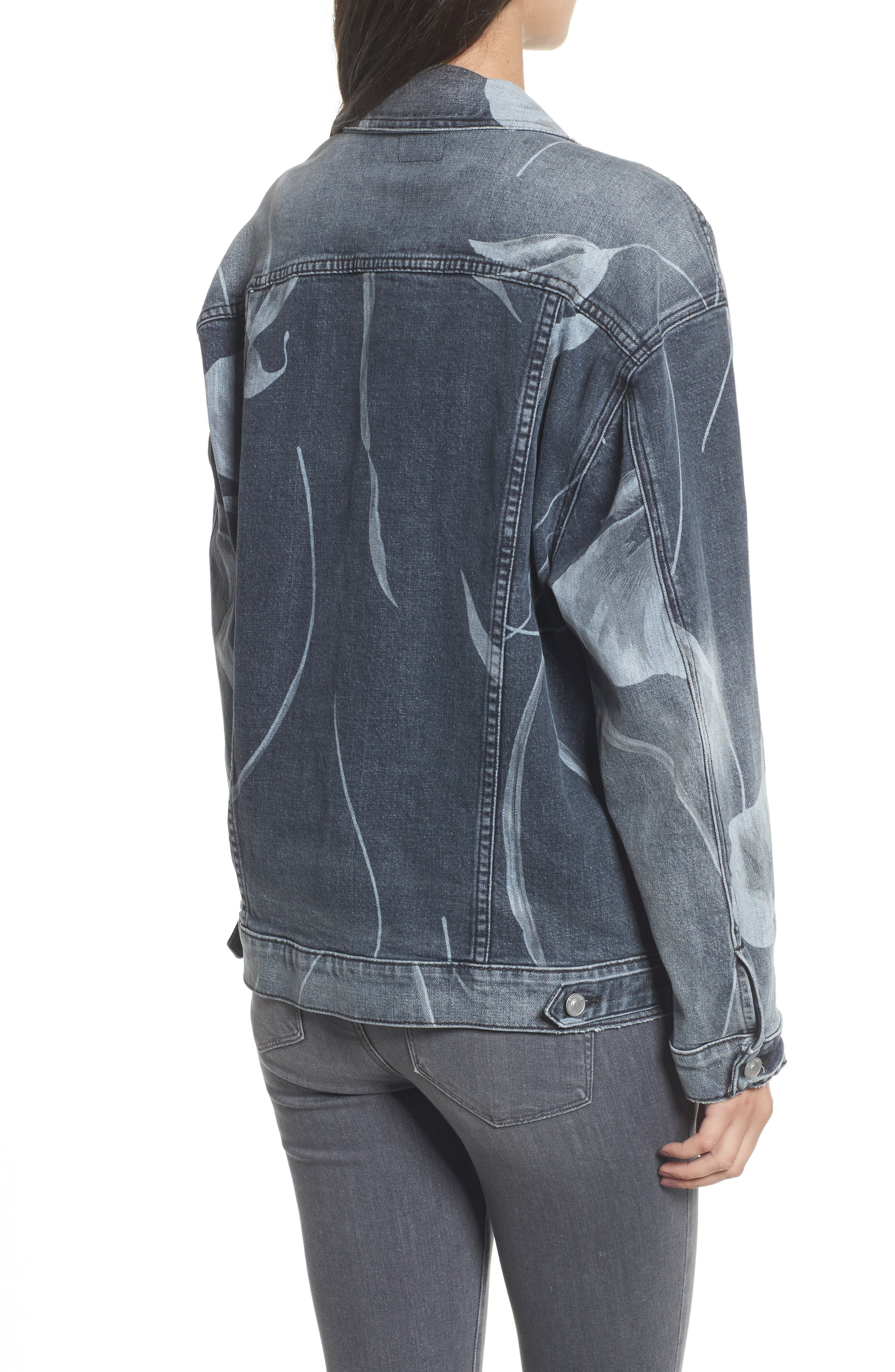 New Boyfriend Denim Trucker Jacket,                             Alternate thumbnail 2, color,                             001