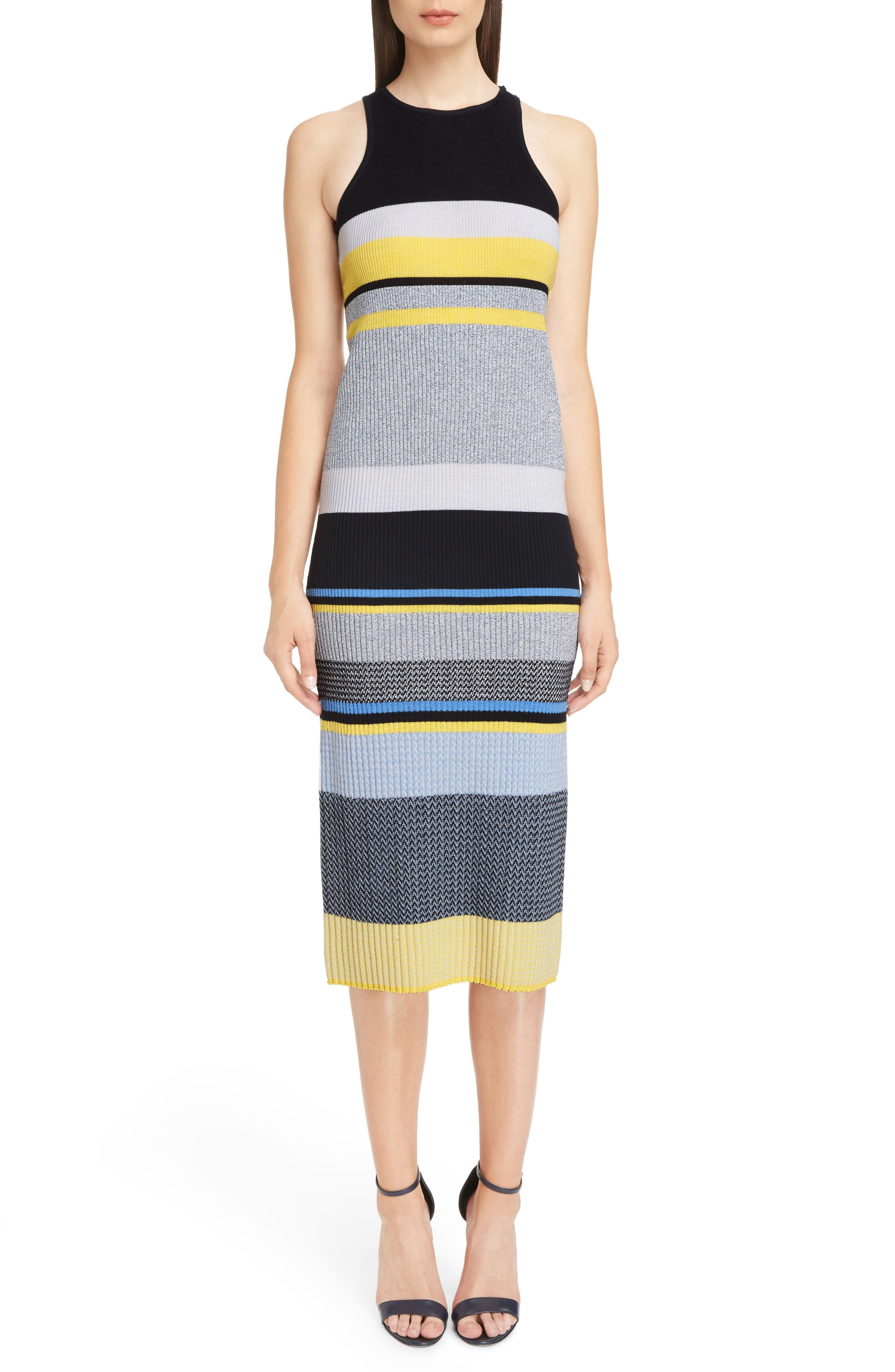 Stripe Knit Dress,                             Main thumbnail 1, color,