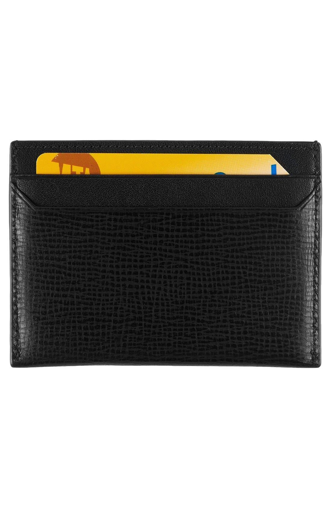 Monaco Slim Leather Card Case,                             Alternate thumbnail 2, color,                             001
